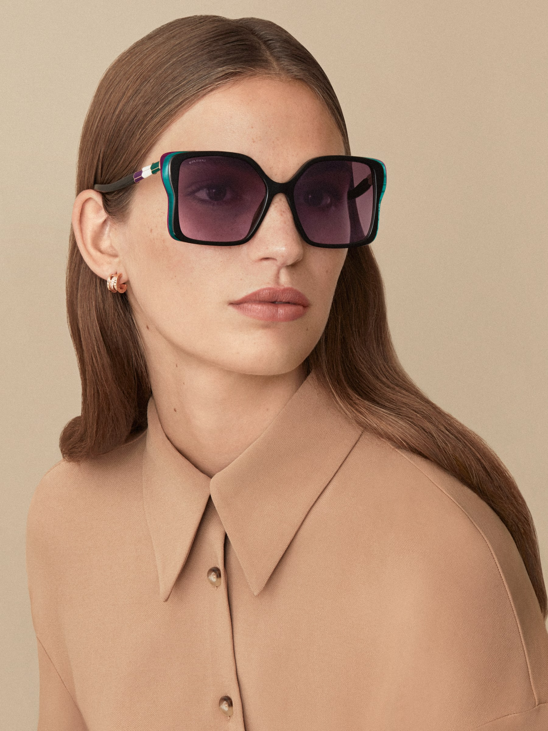 "Serpenti ""Back to Scale"" acetate butterfly sunglasses 904056 image 3"