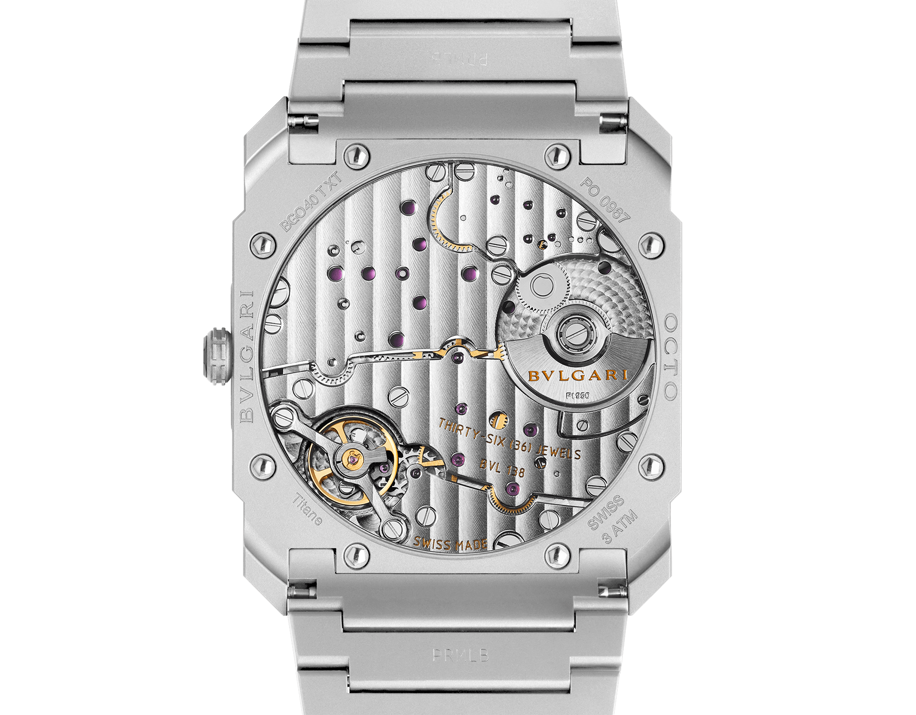 Octo Finissimo Automatic watch in titanium case and bracelet with extra thin mechanical manufacture movement, automatic winding, small seconds and titanium dial. 102713 image 4