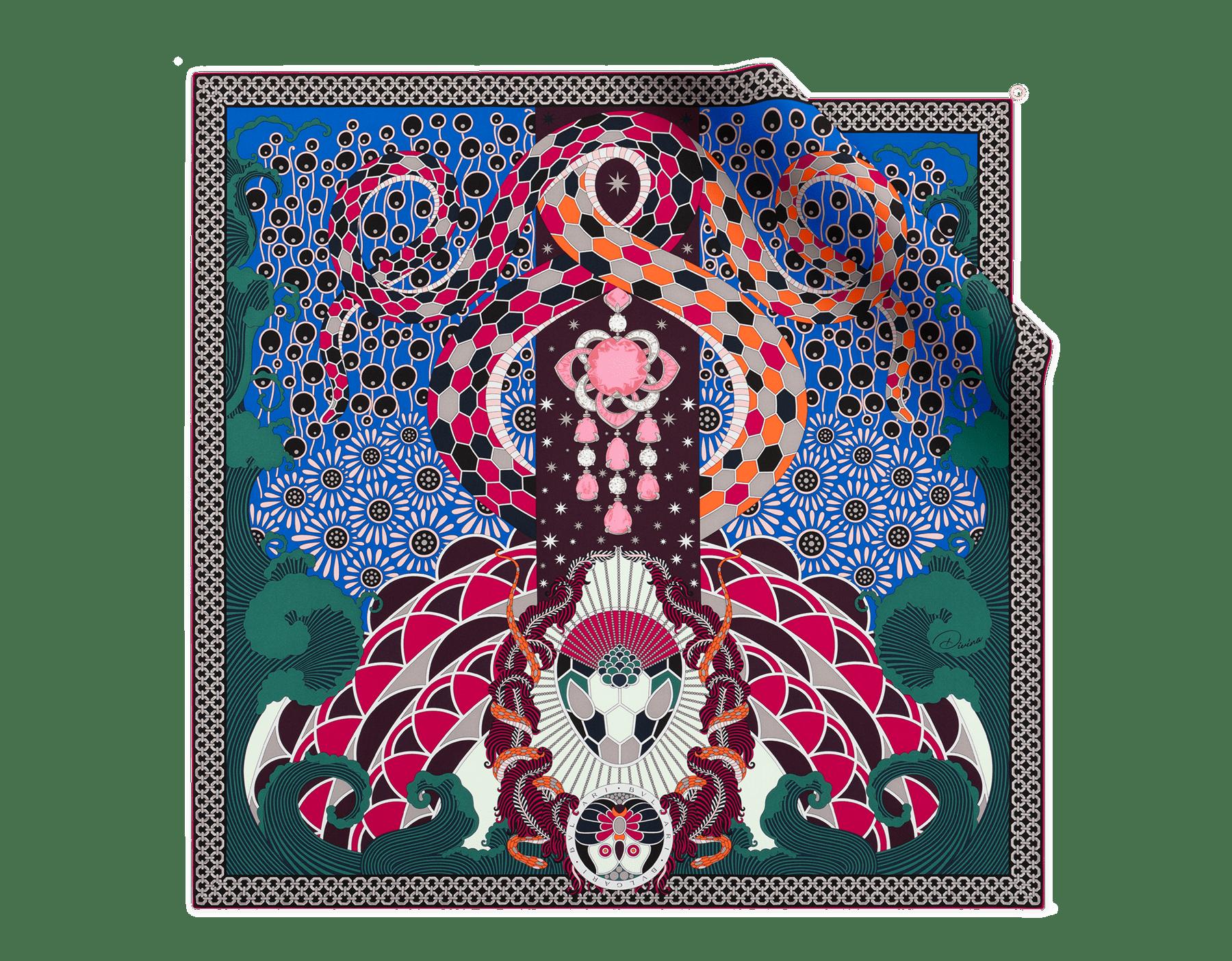 """شال """"ديفينيا"""" من الحرير الفاخر الغني باللون الأبيض. DIVINA image 1"""