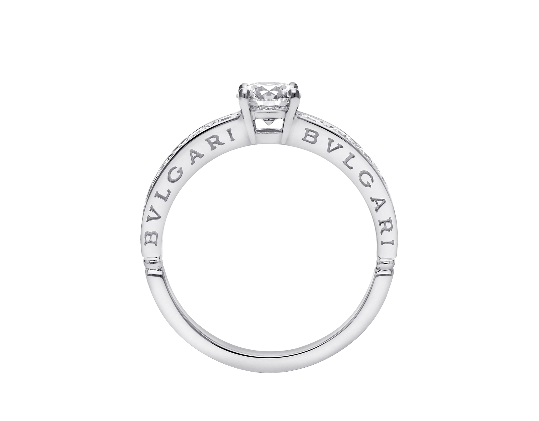 Dedicata a Venezia: 1503 platinum ring set with a round brilliant cut diamond and pavé diamonds 343211 image 4