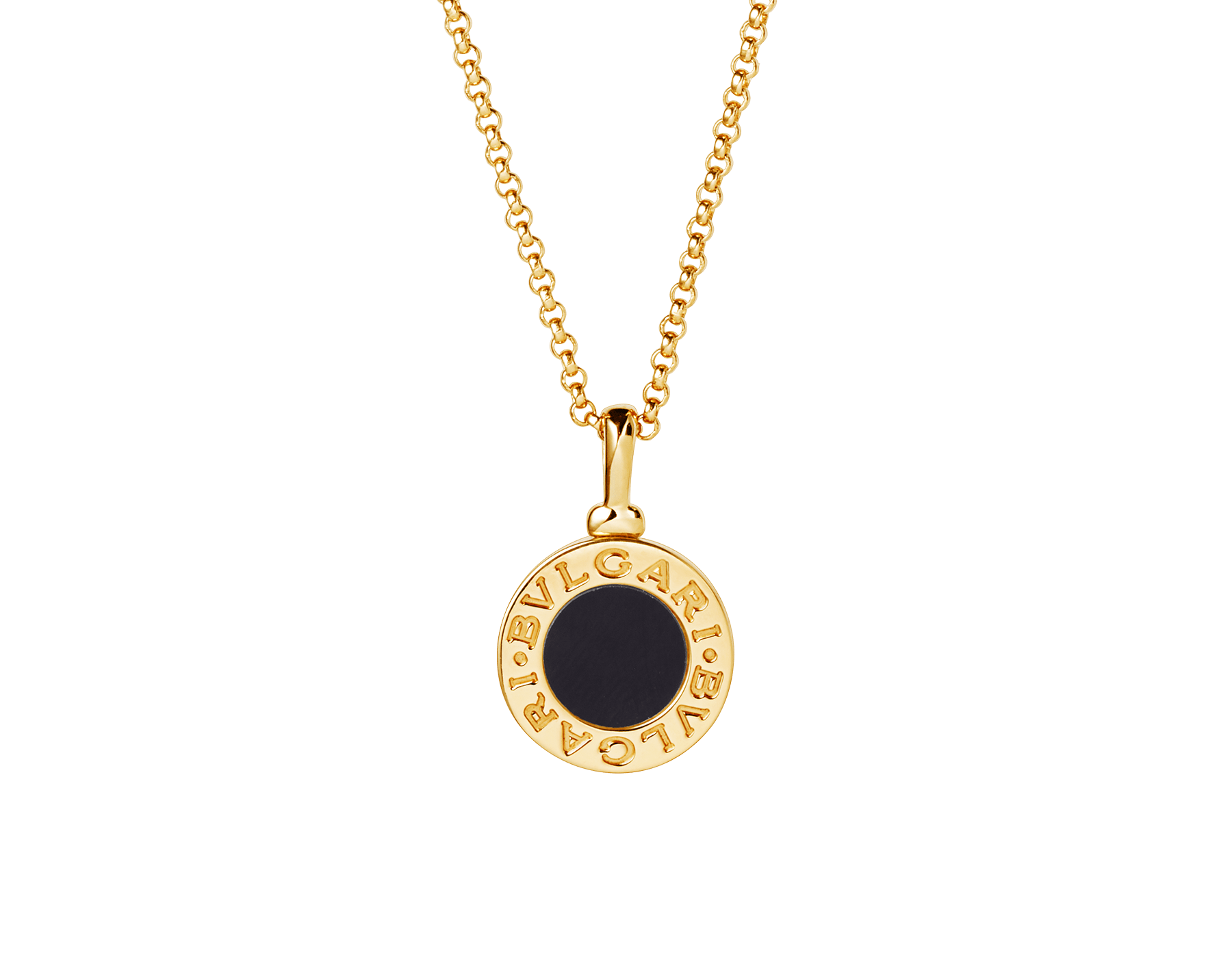 BVLGARI BVLGARI necklace with 18 kt yellow gold chain and 18 kt yellow gold pendant set with onyx 350554 image 1