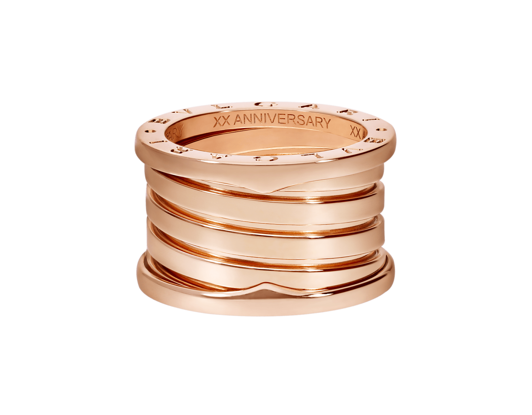 B.zero1 XXth Anniversary five-band ring in 18 kt rose gold B-zero1-5-bands-AN858661 image 4