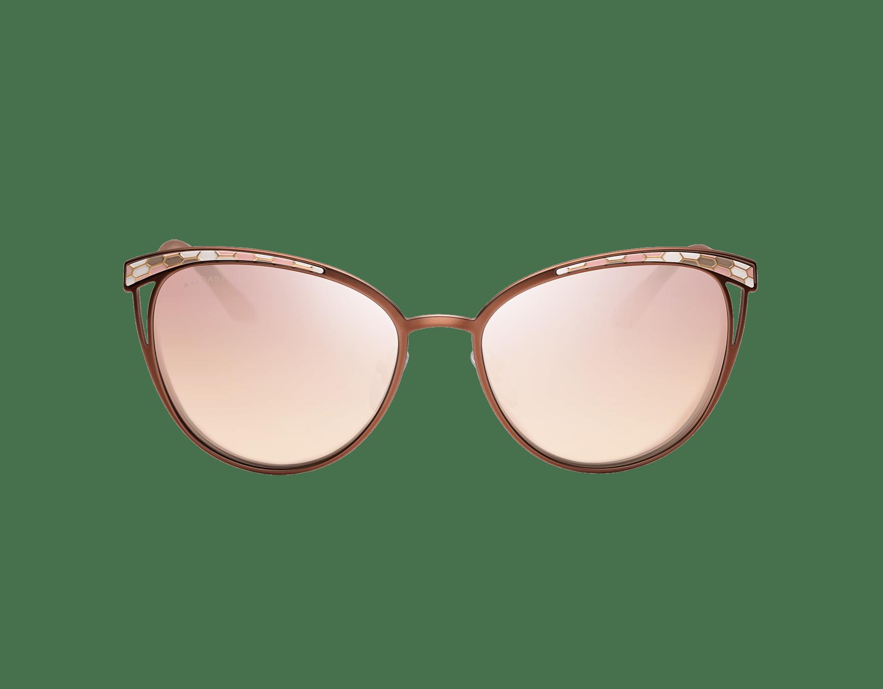 Contemporâneos óculos de sol Serpenti Serpentine com formato olho de gato em metal. 903605 image 2