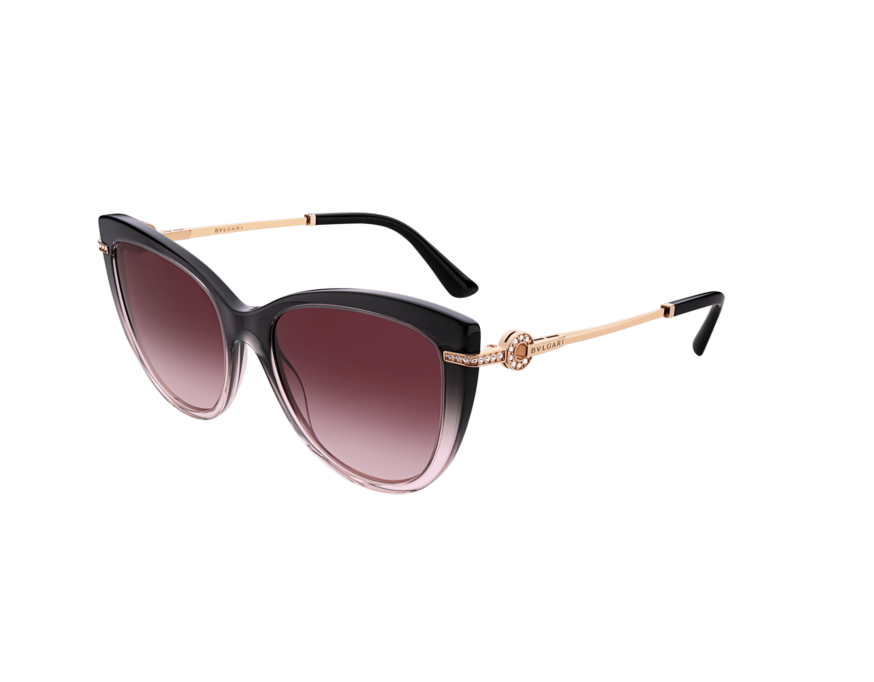 BVLGARI BVLGARI cat-eye acetate sunglasses with metal décor and crystals. 903802 image 1
