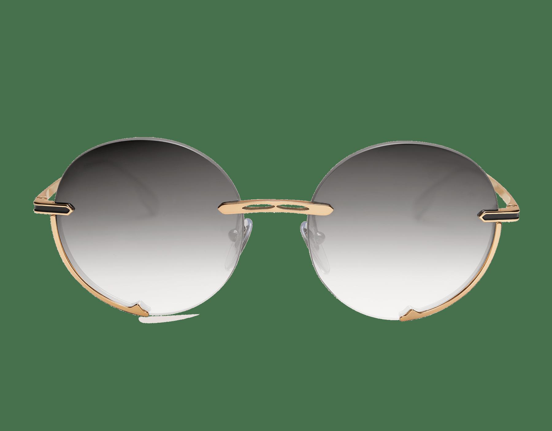 """Bvlgari B.zero1 """"Logo Embrace"""" metal round sunglasses. 904051 image 2"""