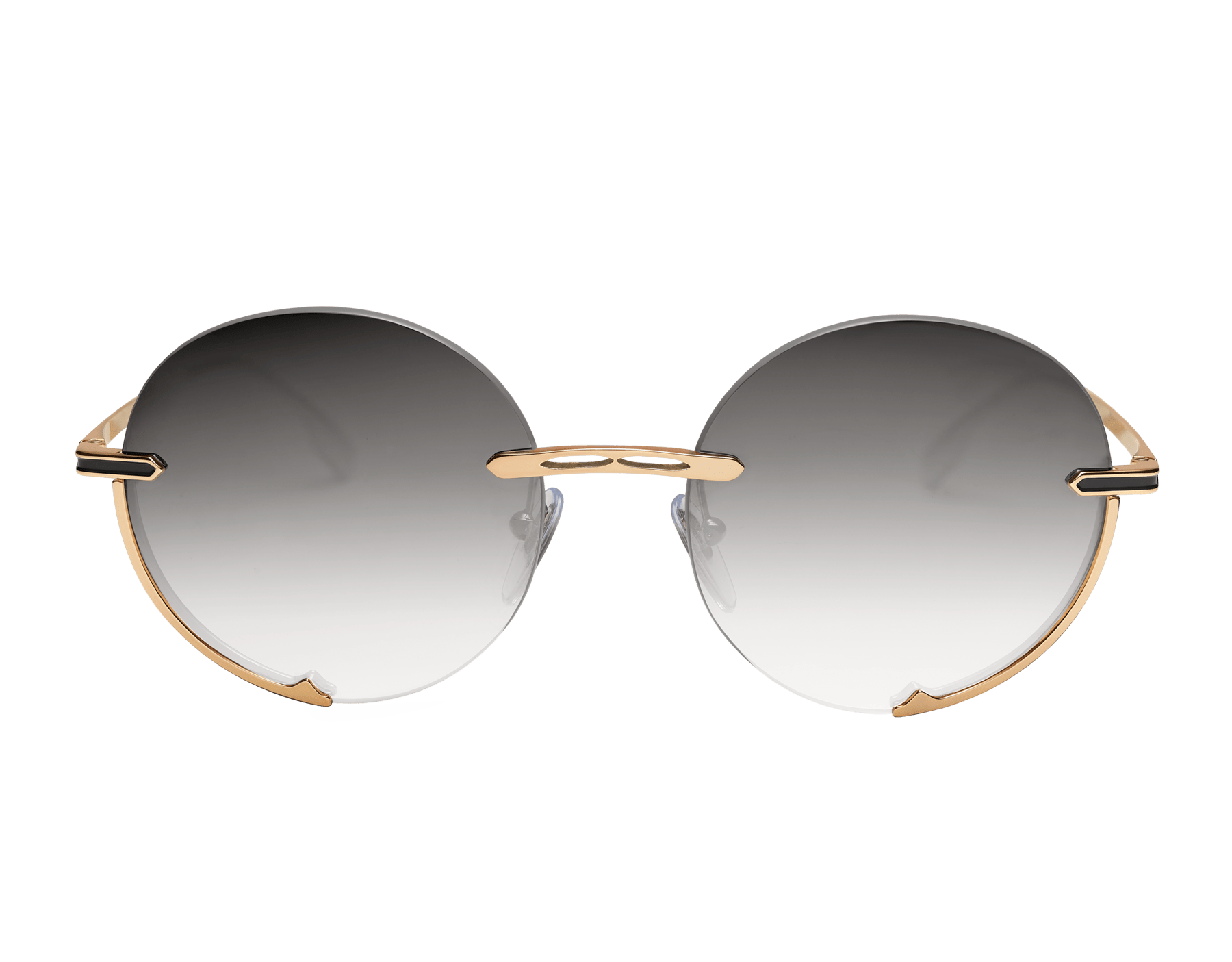 "Bvlgari B.zero1 ""Logo Embrace"" round metal sunglasses. Bzero1logoembrace image 2"