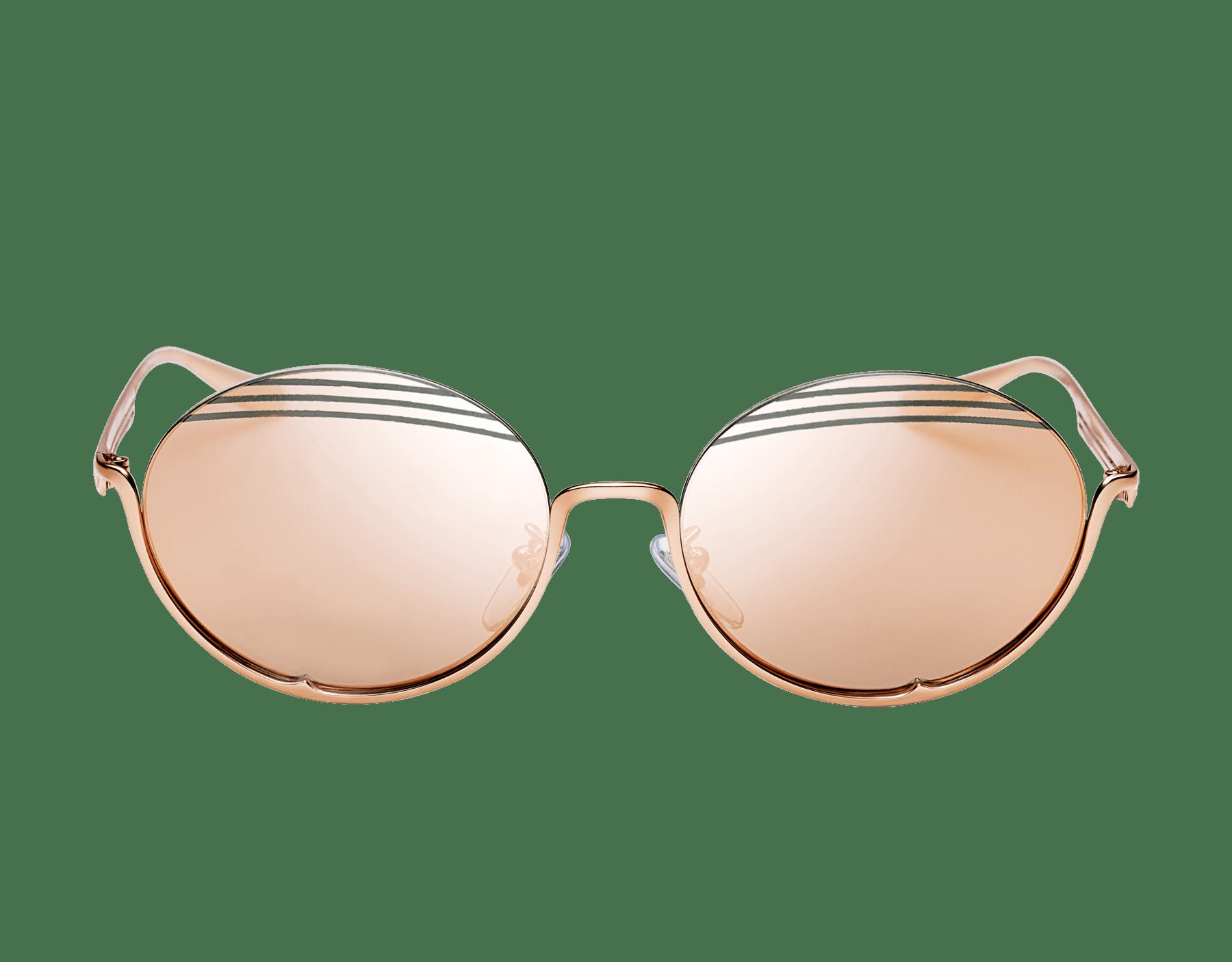 Bvlgari B.zero1 B.stripe semi-rimless oval metal sunglasses. 903713 image 2