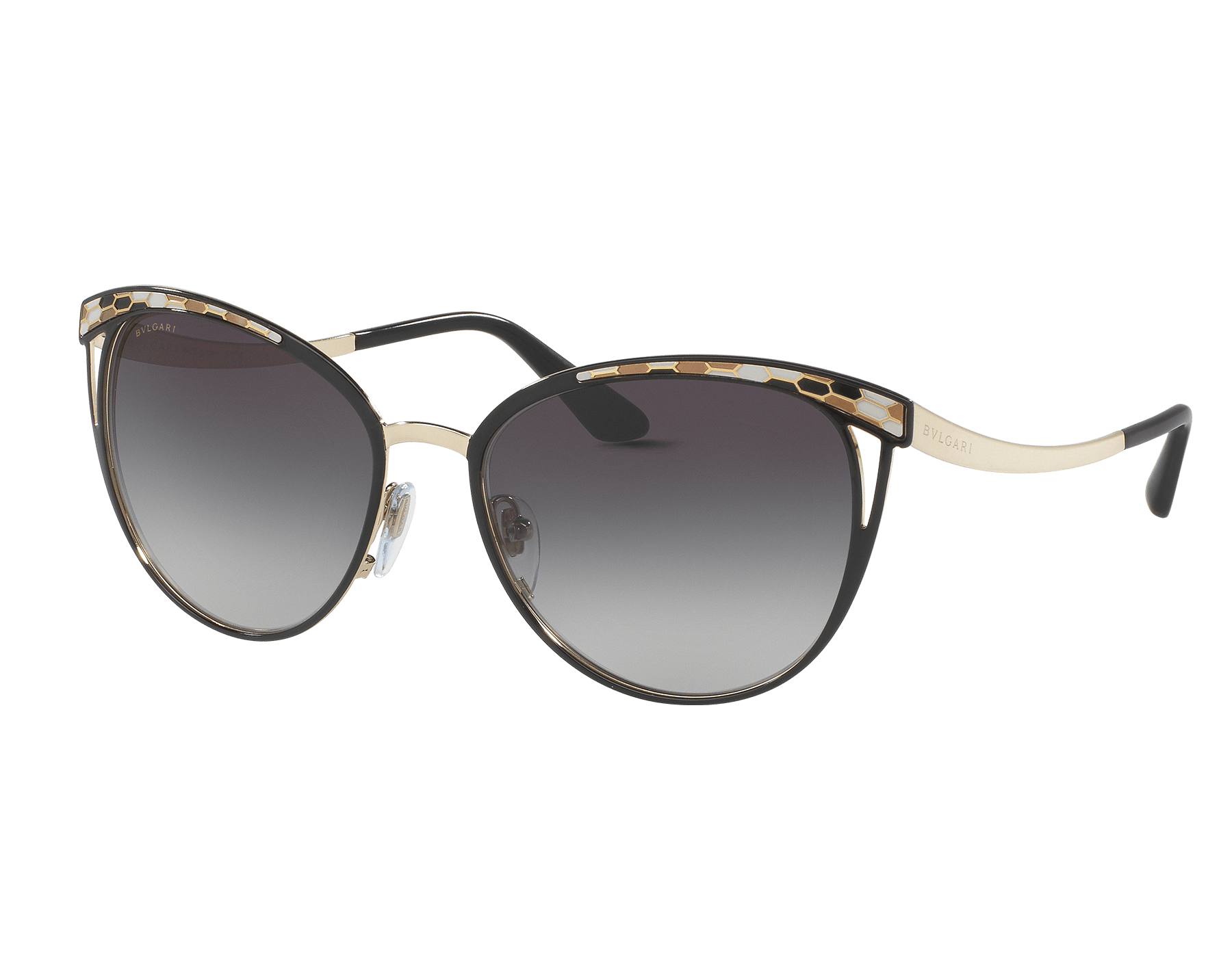 Bulgari Serpenti Serpentine cat-eye metal sunglasses. BV6083 image 1