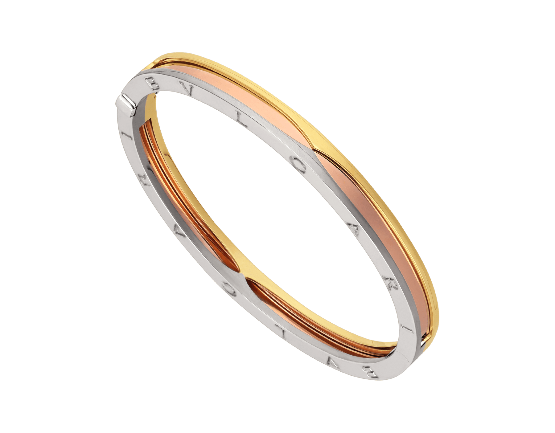 B.zero1 1bangle bracelet in 18 kt rose, yellow and white gold. BR857847 image 1