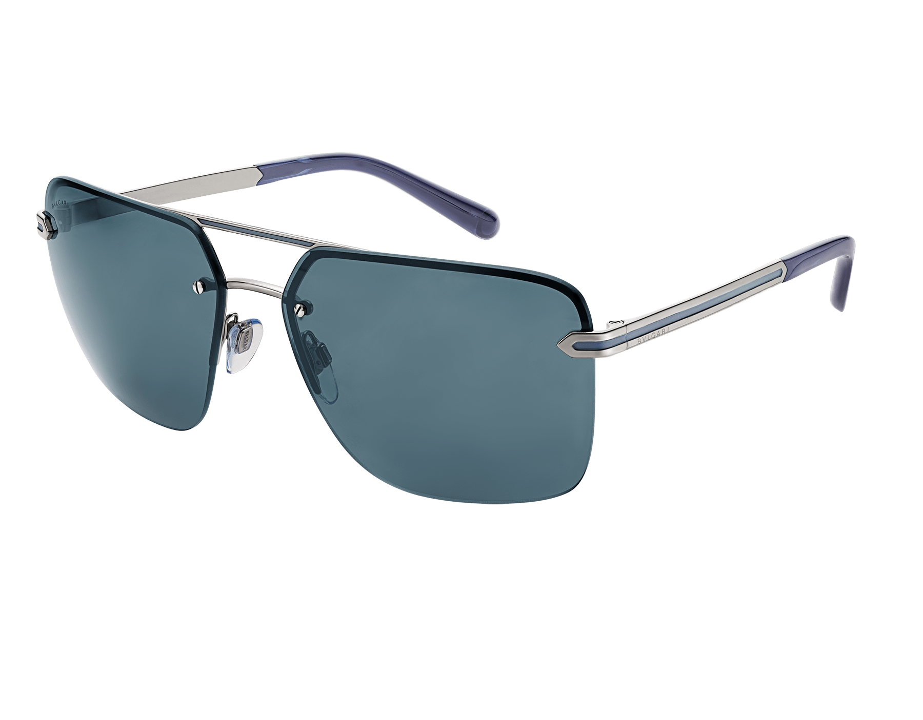 Bvlgari Bvlgari Man metal double bridge rectangular sunglasses. 904057 image 1