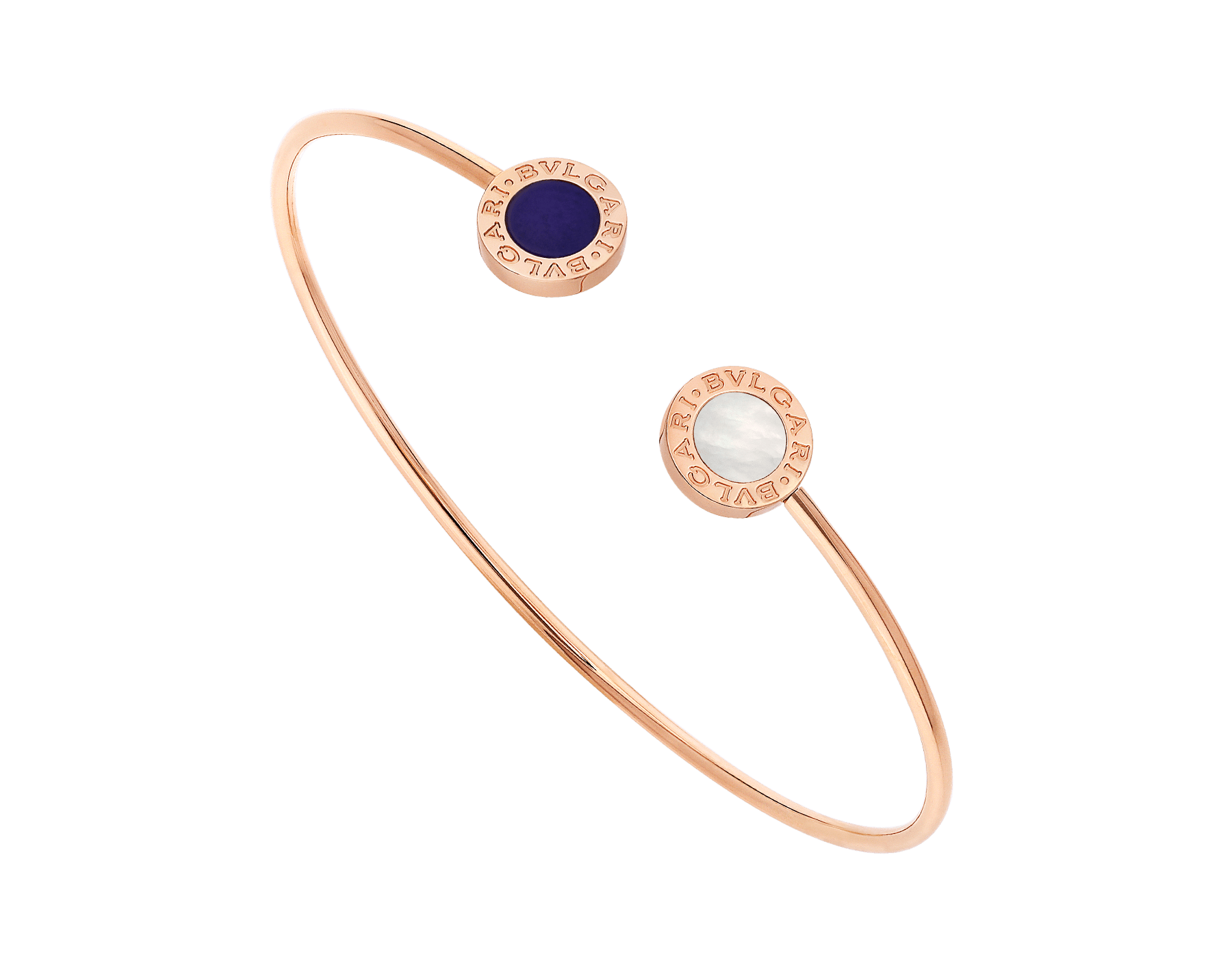BVLGARI BVLGARI 18 kt rose gold bracelet set with mother-of-pearl and sugilite elements BR858694 image 1