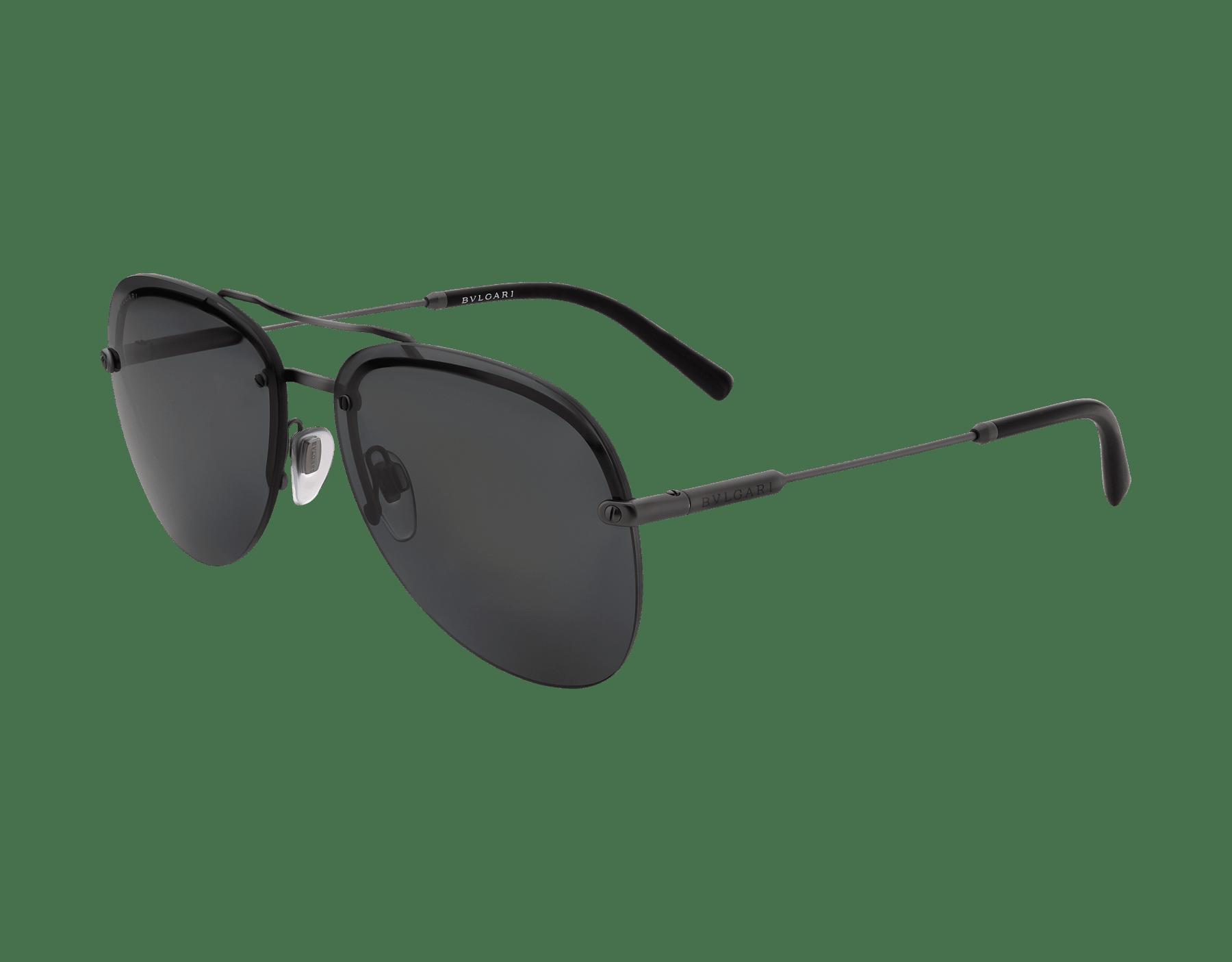 BVLGARI BVLGARI semi-rimless aviator sunglasses. 903412 image 1