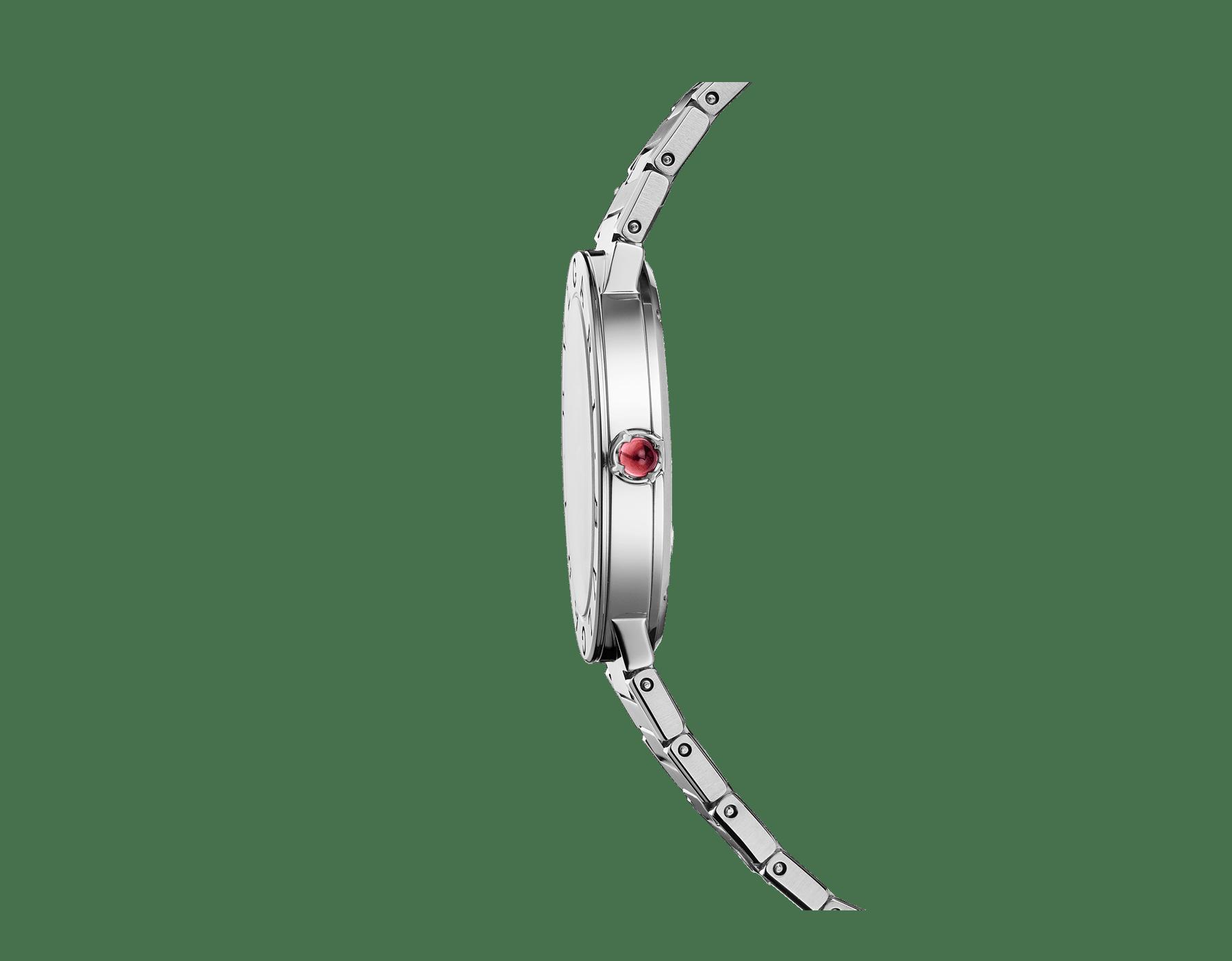 BVLGARI BVLGARI LADY 腕錶,精鋼錶殼和錶帶,精鋼錶圈鐫刻雙品牌標誌,綠色太陽放射紋錶盤。 103066 image 3