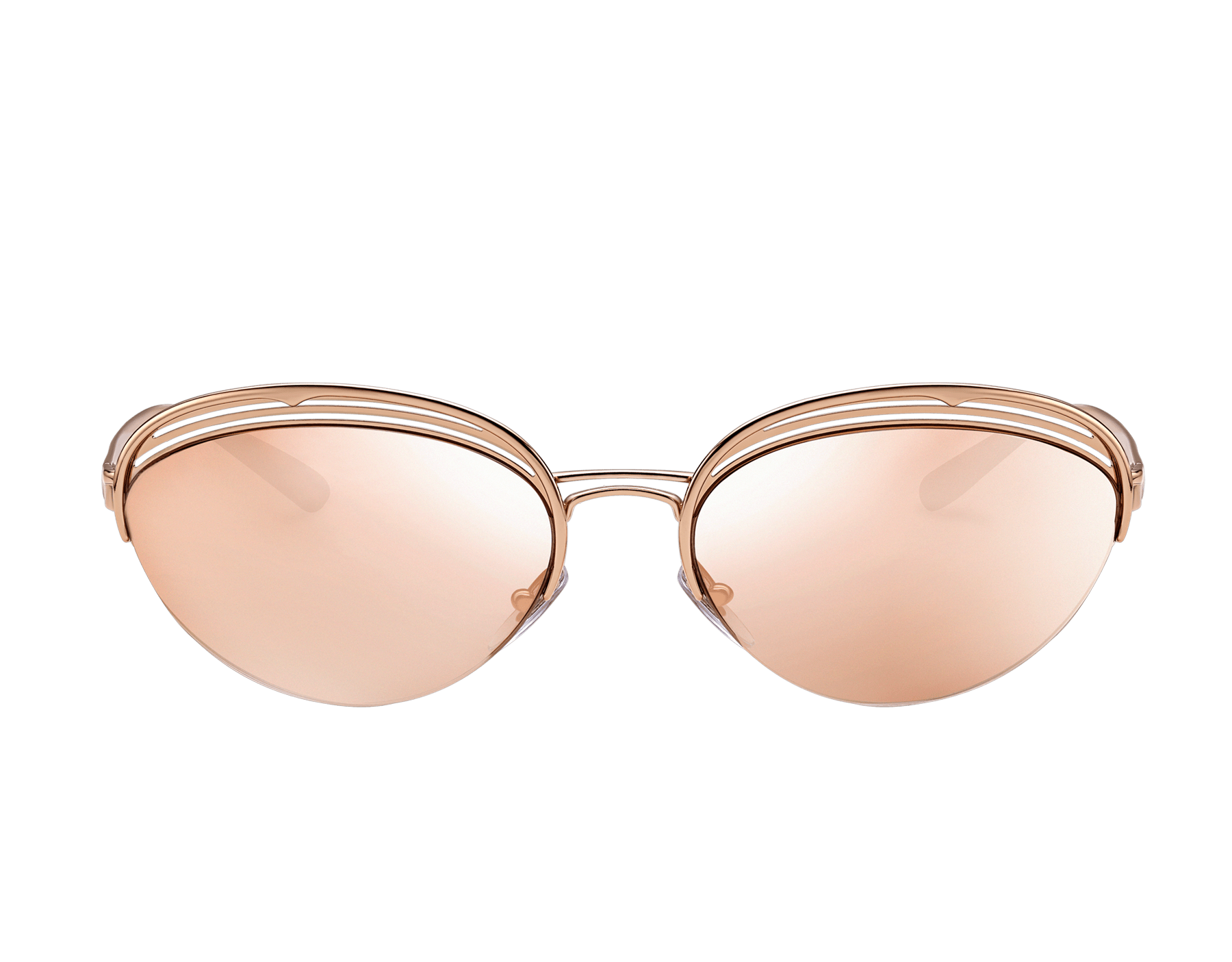 """寶格麗 B.zero1 """"B.retrovibe"""" 半框橢圓形金屬太陽眼鏡。 903894 image 2"""