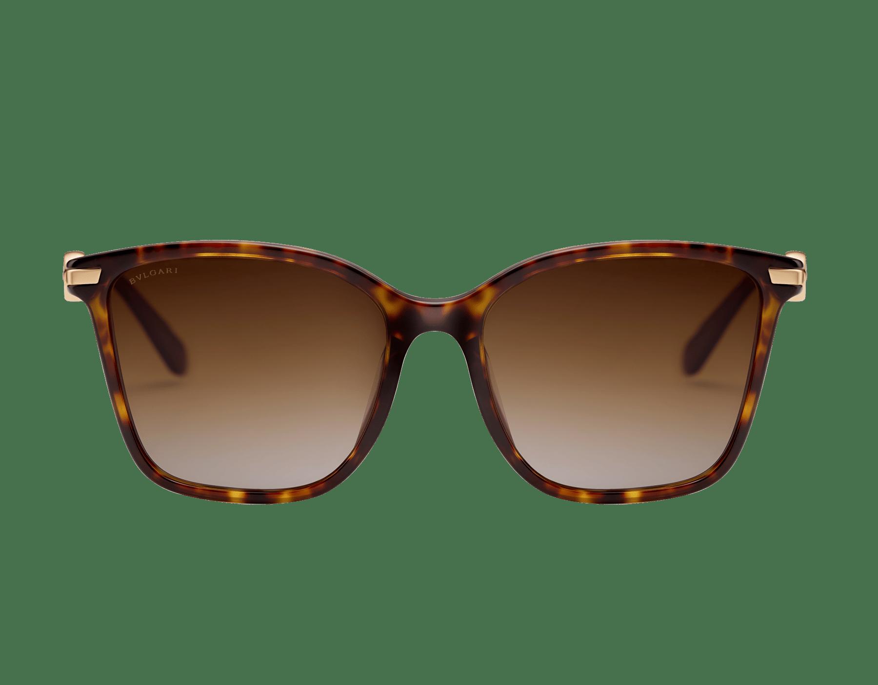 Quadratische BVLGARI BVLGARI Sonnenbrille aus Acetat mit Metallverzierung. 903824 image 2