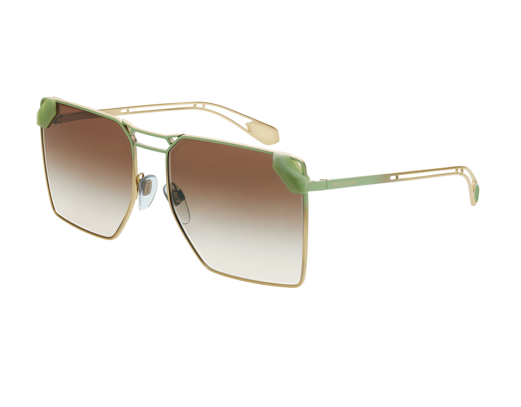 "Serpenti ""Sunnyscale"" oversized square metal sunglasses. 904031 image 1"