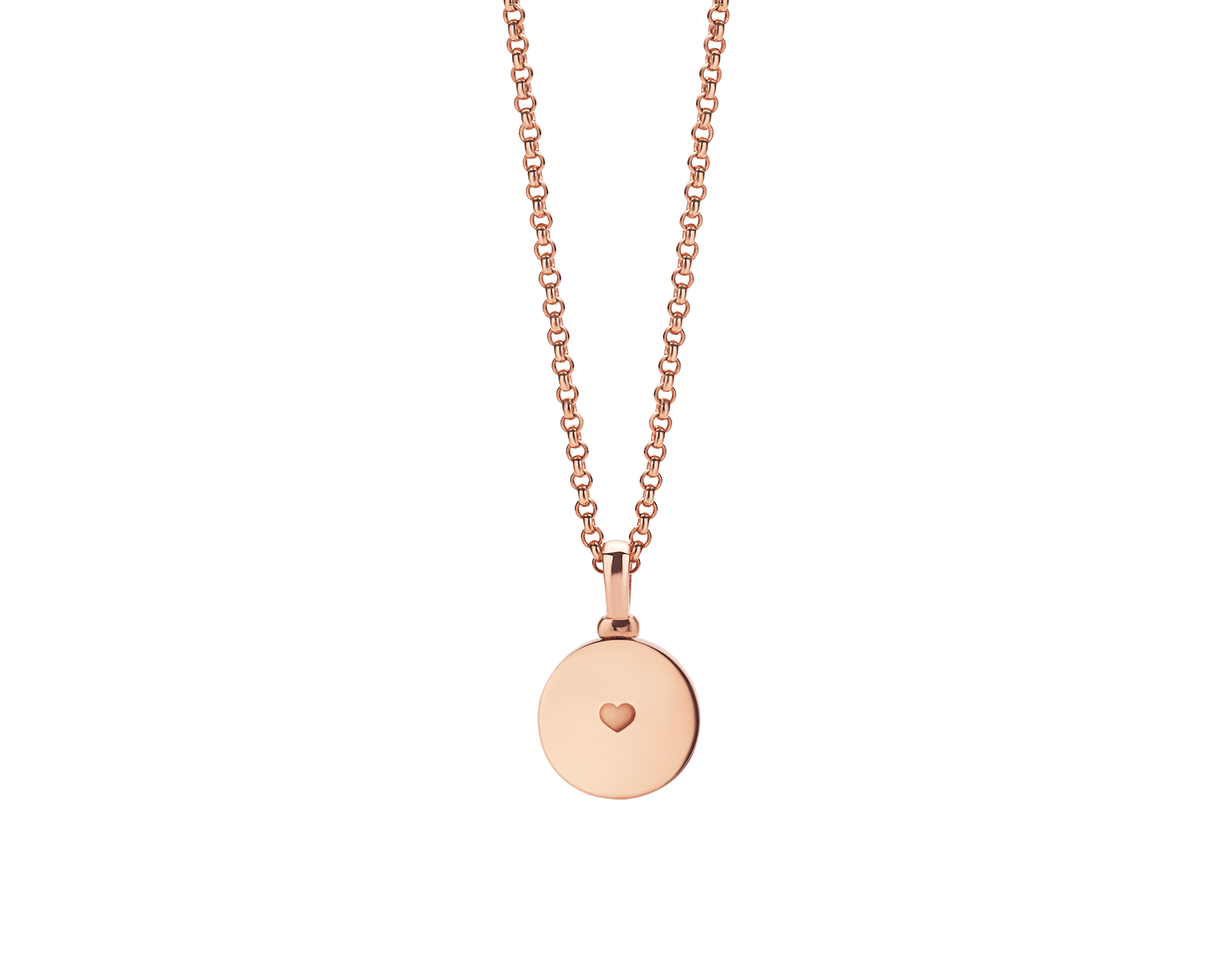 BVLGARI BVLGARI 18 kt rose gold pendant necklace set with mother-of-pearl centre, customisable with engraving on the back 358376 image 2