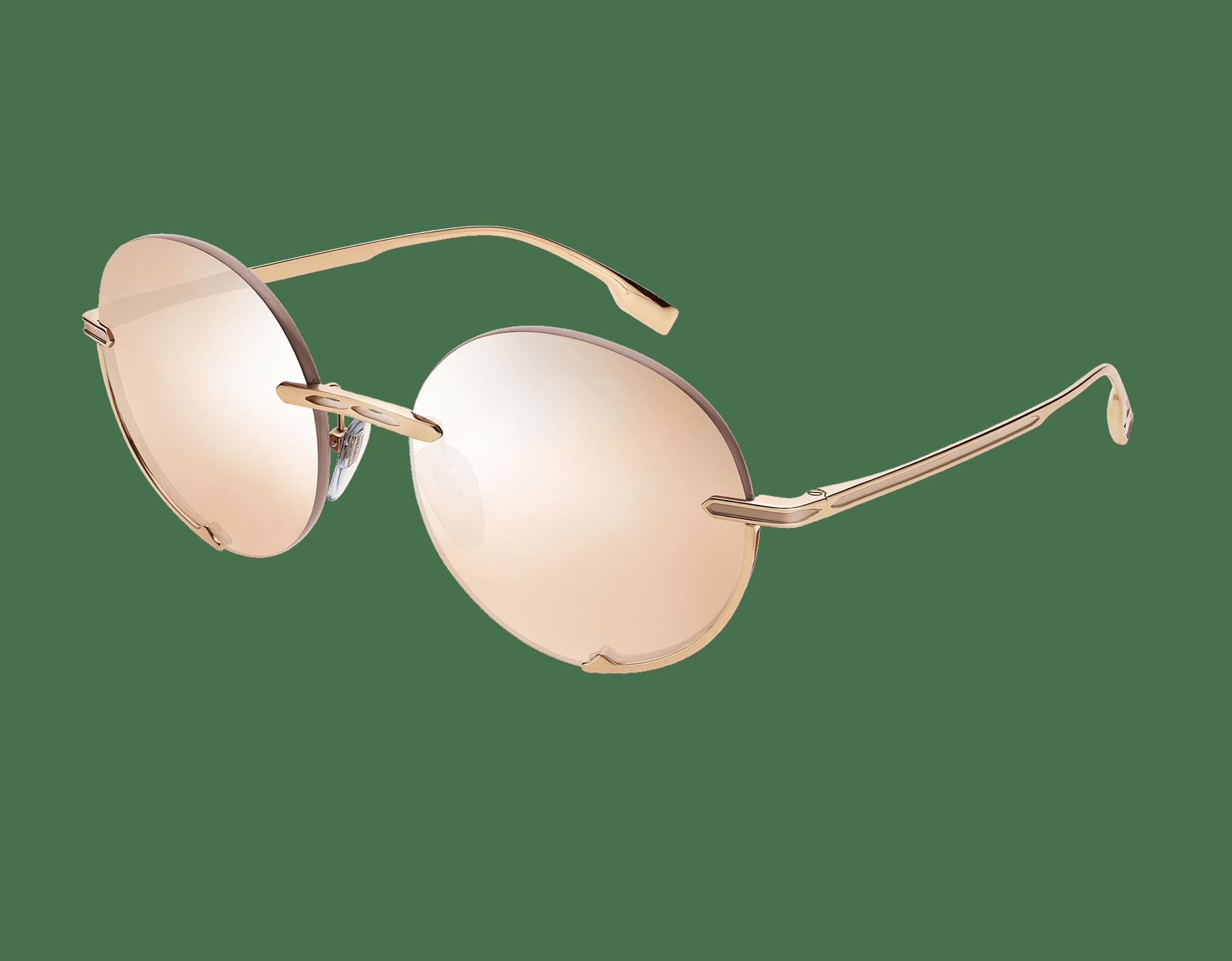 "Bvlgari B.zero1 ""Logo Embrace"" metal round sunglasses. Bzero1logoembrace image 1"