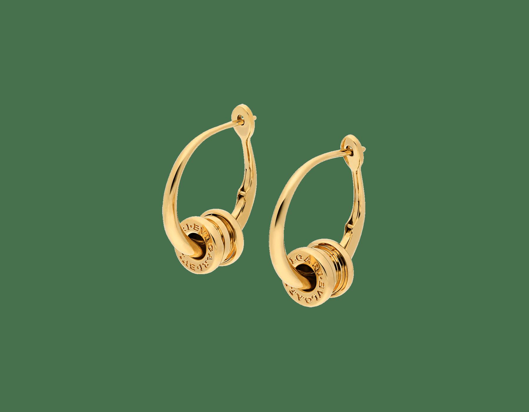 B.zero1 hoop earrings in 18 kt yellow gold 357497 image 2