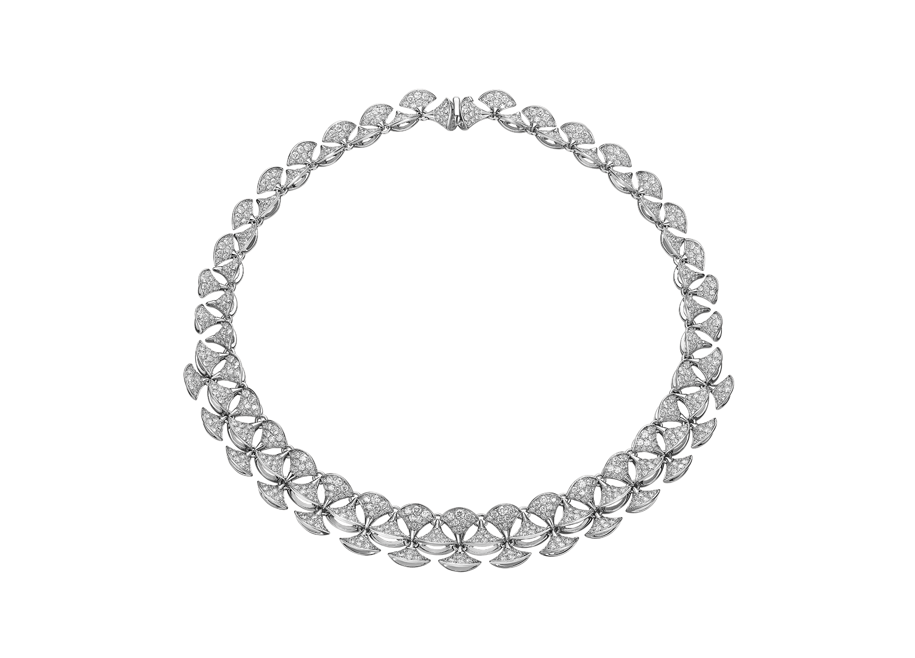 DIVAS' DREAM necklace in 18 kt white gold set with full pavé diamonds. 349444 image 1