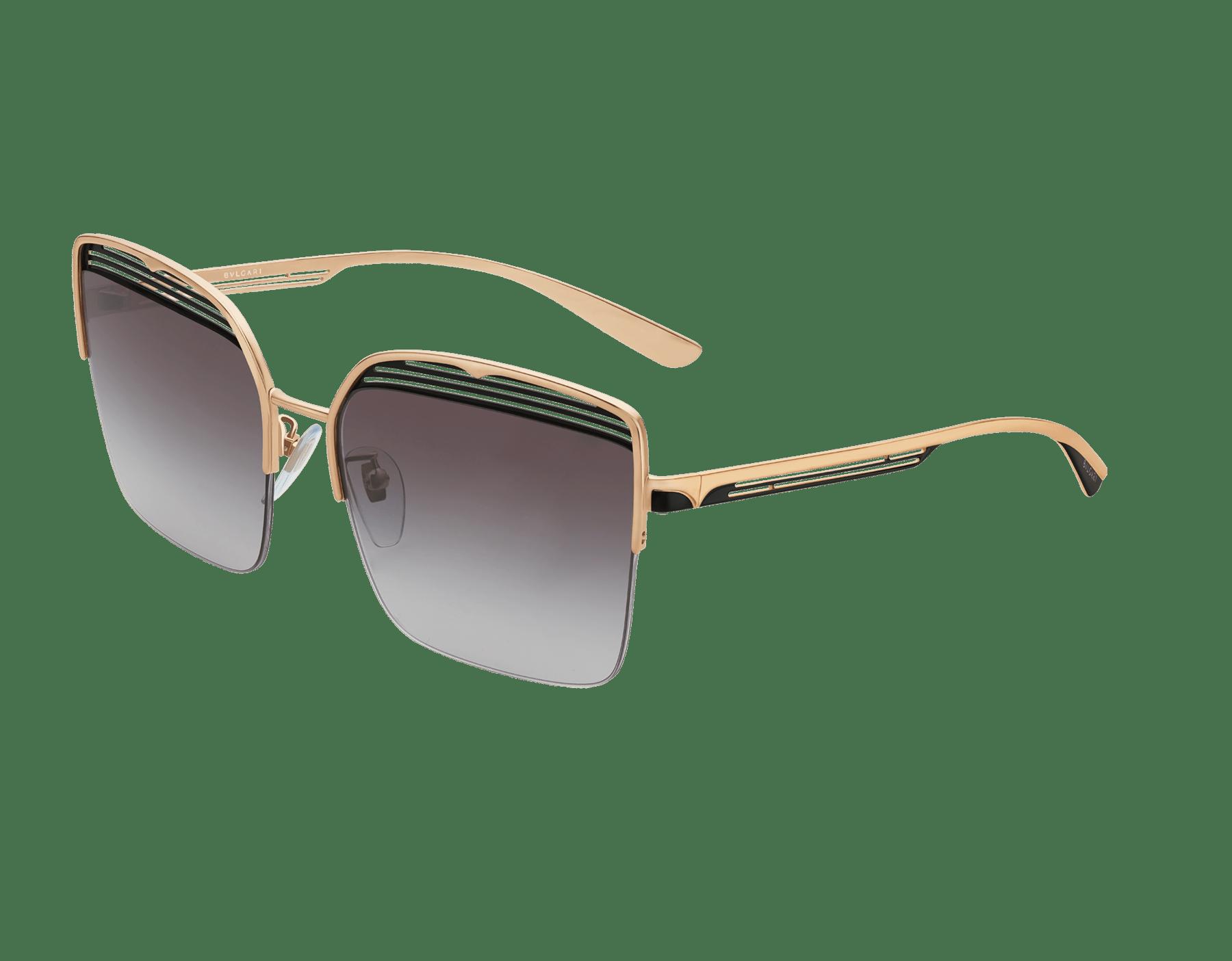 Gafas de sol Bvlgari B.zero1 B.overvibe cuadradas con semiarmazón en metal. 903810 image 1