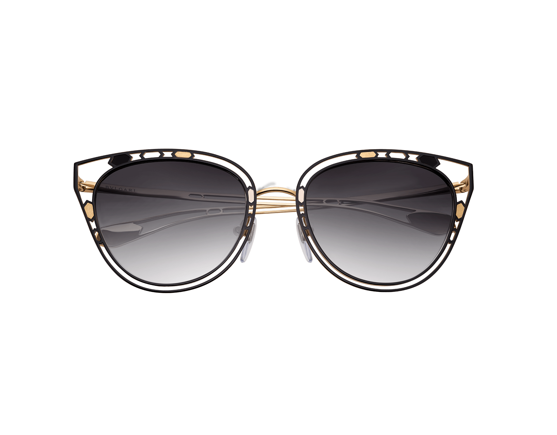 Serpenti 'Temptalicious' cat-eye metal frame with an openwork structure and colorful details. 903534 image 2
