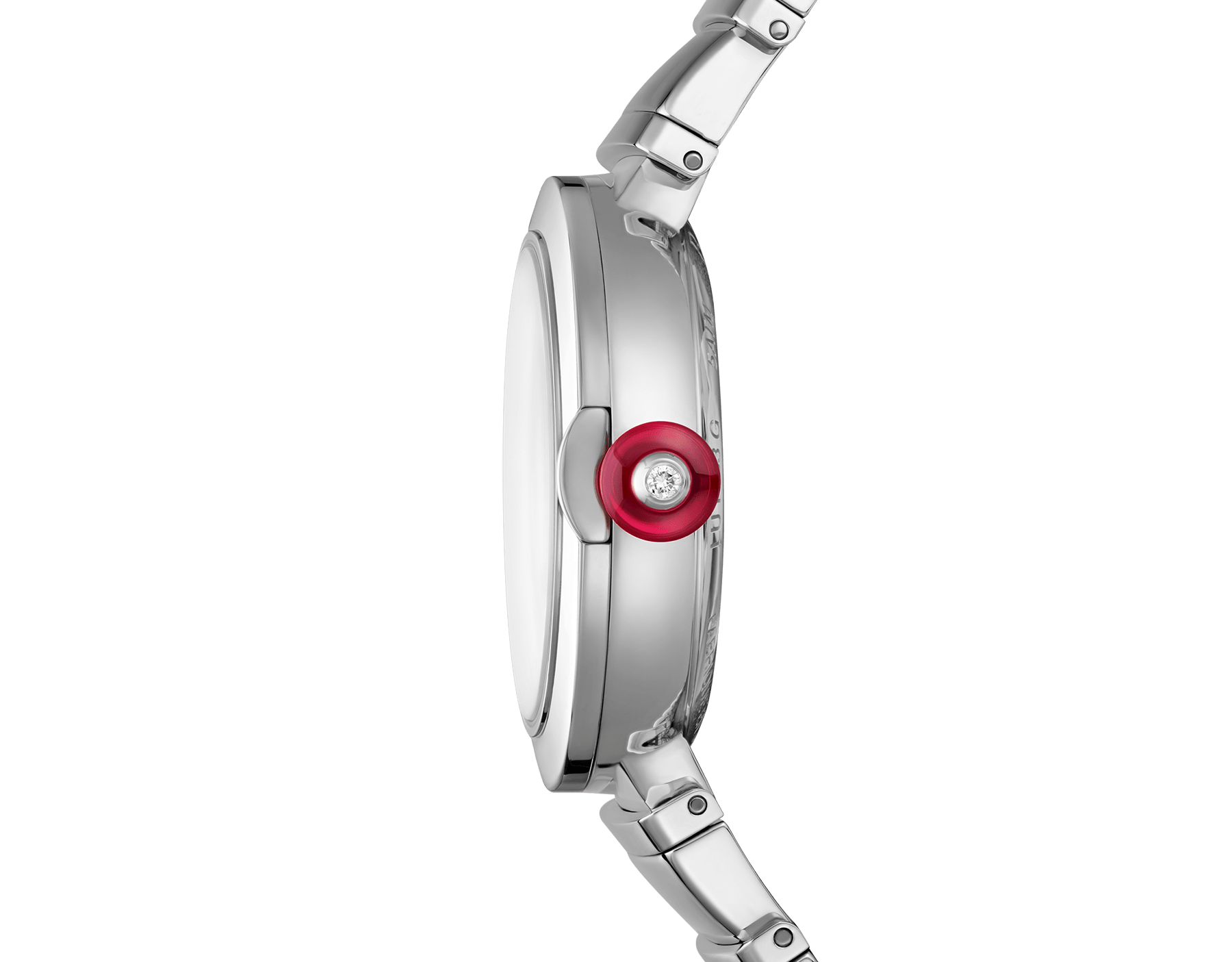 LVCEA watch in stainless steel case and bracelet, with silver opaline dial. 102219 image 3