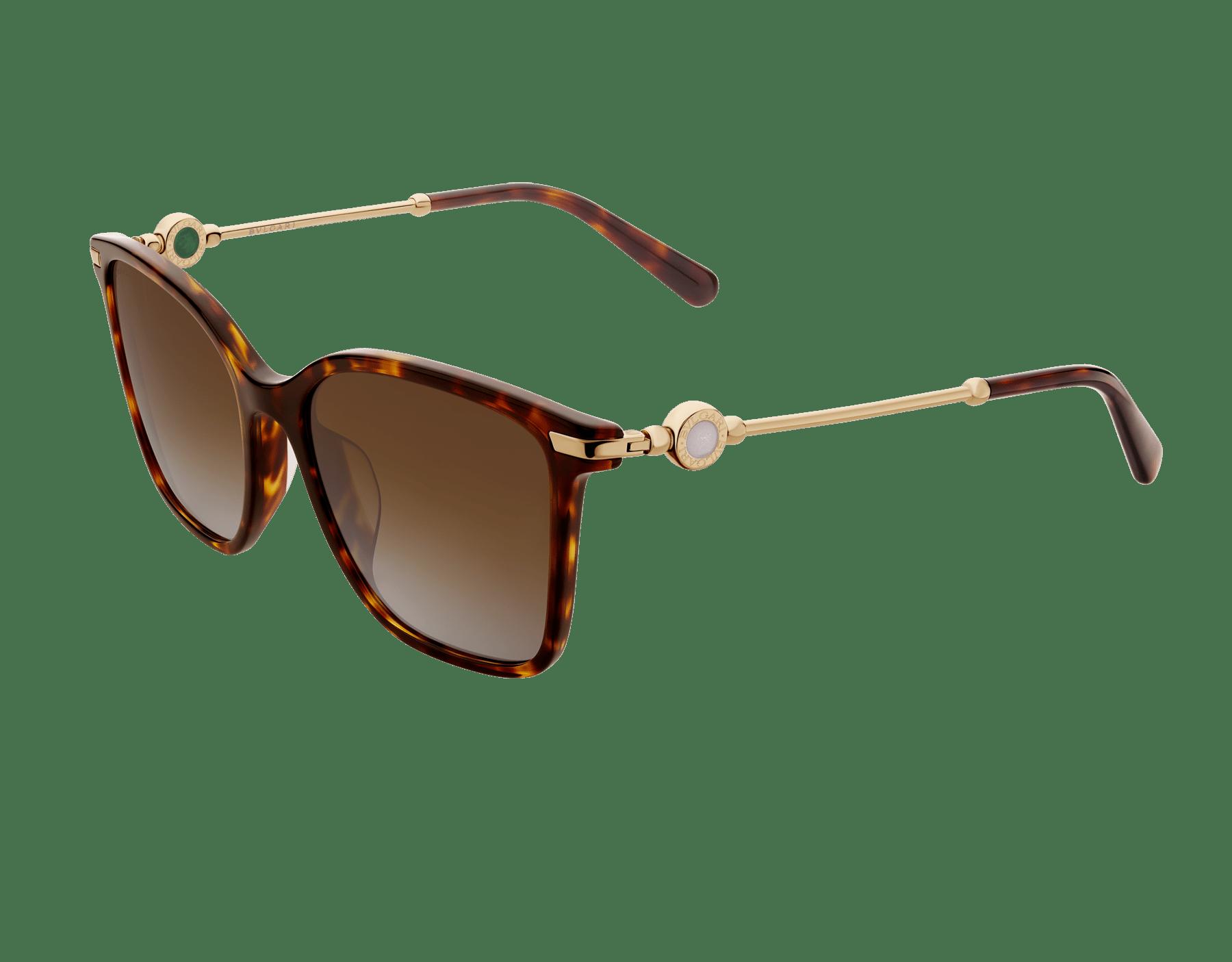 Quadratische BVLGARI BVLGARI Sonnenbrille aus Acetat mit Metallverzierung. 903824 image 1