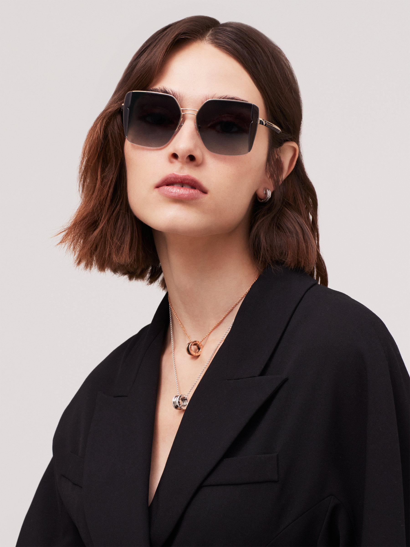 Bulgari B.zero1 B.purebright metal squared sunglasses. 903960 image 3