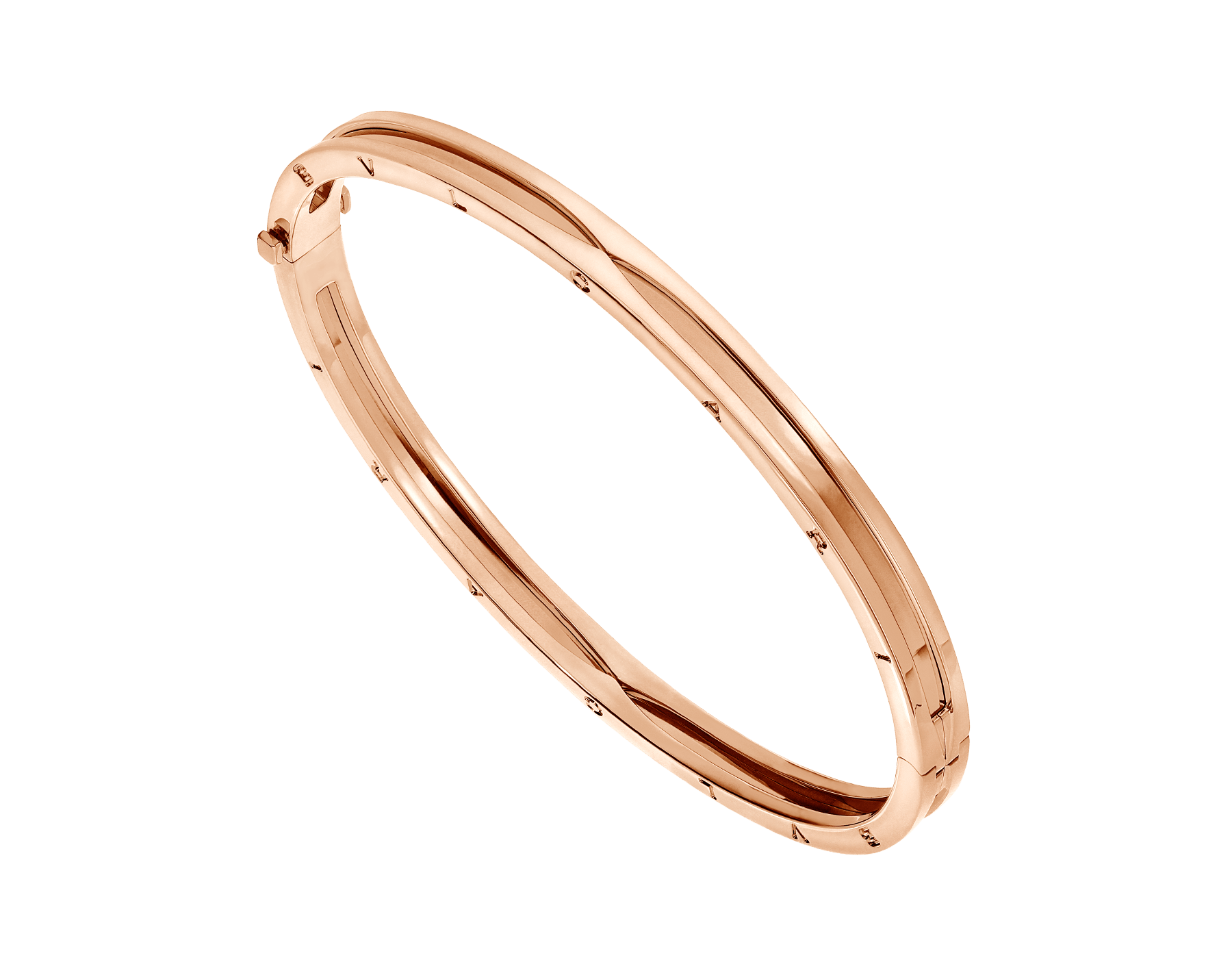 B.zero1 18 kt rose gold bangle bracelet BR858667 image 1