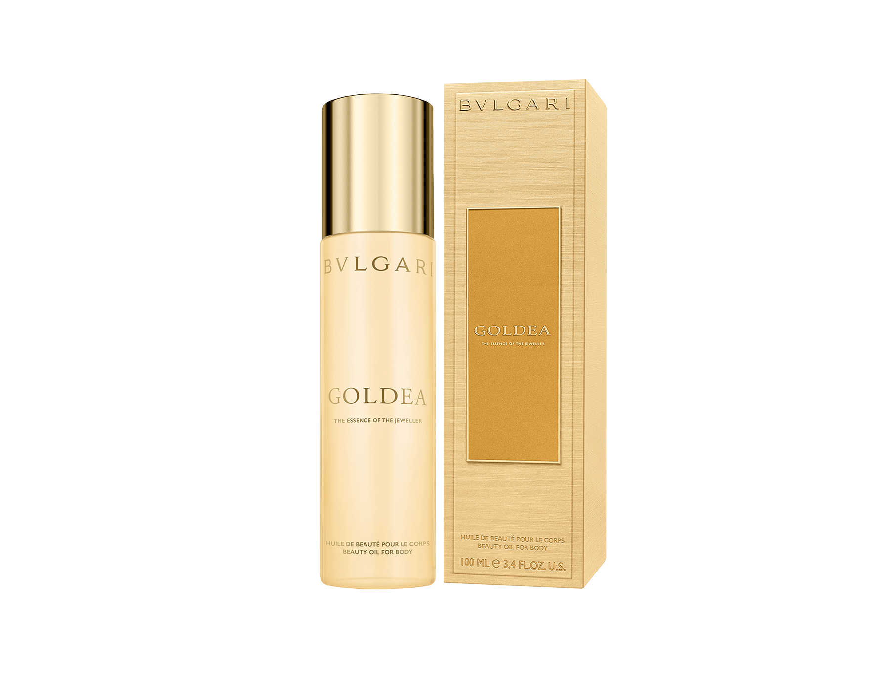 Infinitely sensual and refined, this dry body oil preciously scented with Goldea notes beautifies the skin. Apply to the body with gentle massage to leave skin velvety smooth to the touch. Its luxurious texture penetrates quickly, leaving the skin with no oily sensation. 50525 image 2