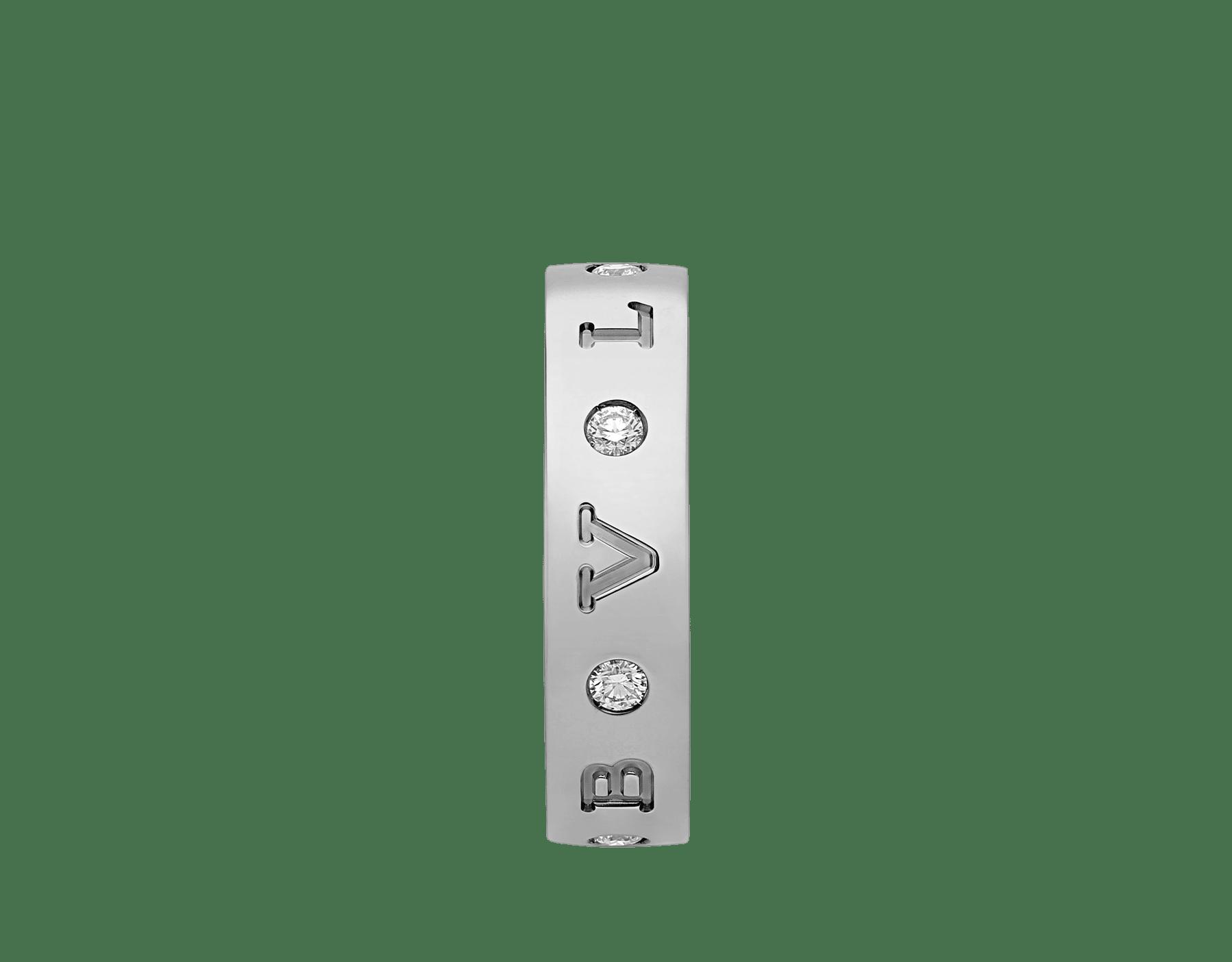 BVLGARI BVLGARI 18 kt white gold band ring set with seven diamonds (0.20 ct) AN858097 image 2