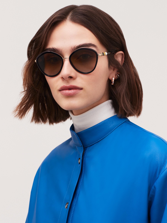 Bulgari Serpenti rounded metal sunglasses. 903987 image 3