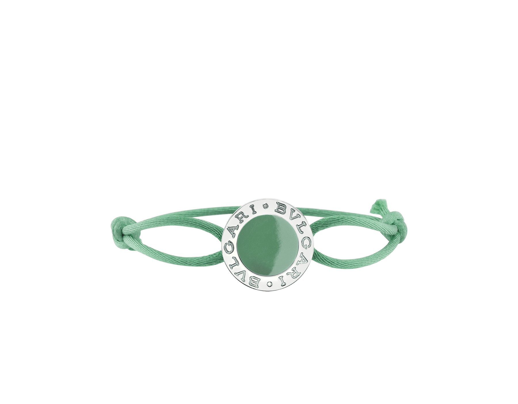 BVLGARI BVLGARI bracelet in tropical tourquoise fabric with an iconic logo décor in sterling silver and tropical tourquoise enamel. 288456 image 1