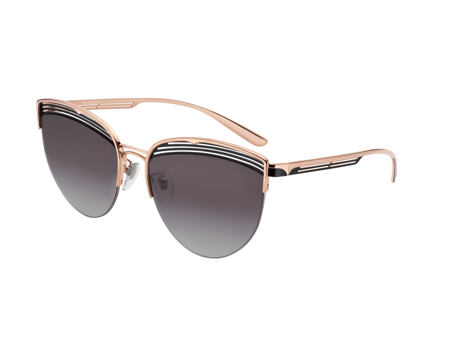 Bvlgari B.zero1 B.purevibes semi-rimless cat-eye metal sunglasses. 903712 image 1