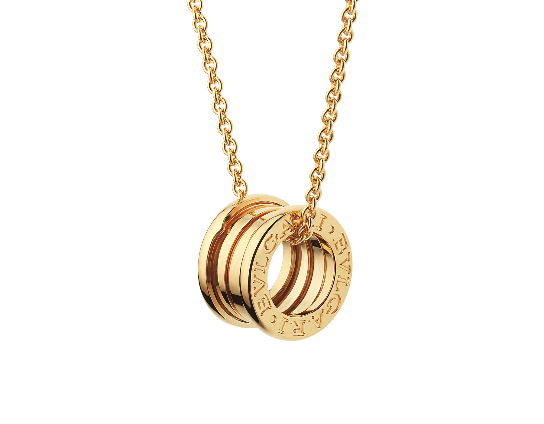 B.zero1 necklace with small round pendant, both in 18kt yellow gold. 352814 image 1