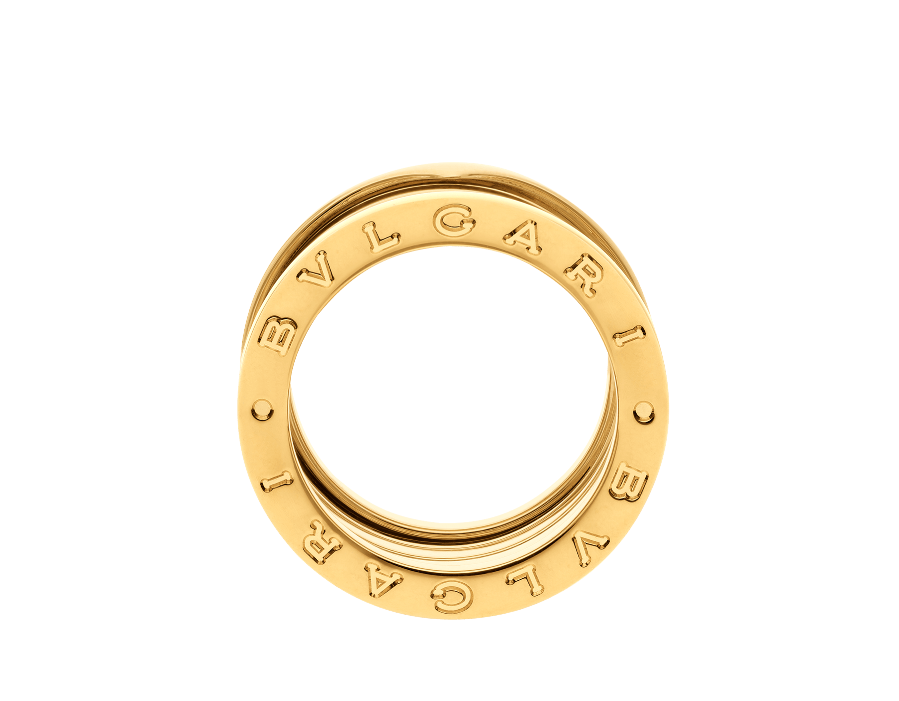 B.zero1 XXth Anniversary five-band ring in 18 kt yellow gold B-zero1-5-bands-AN858662 image 2