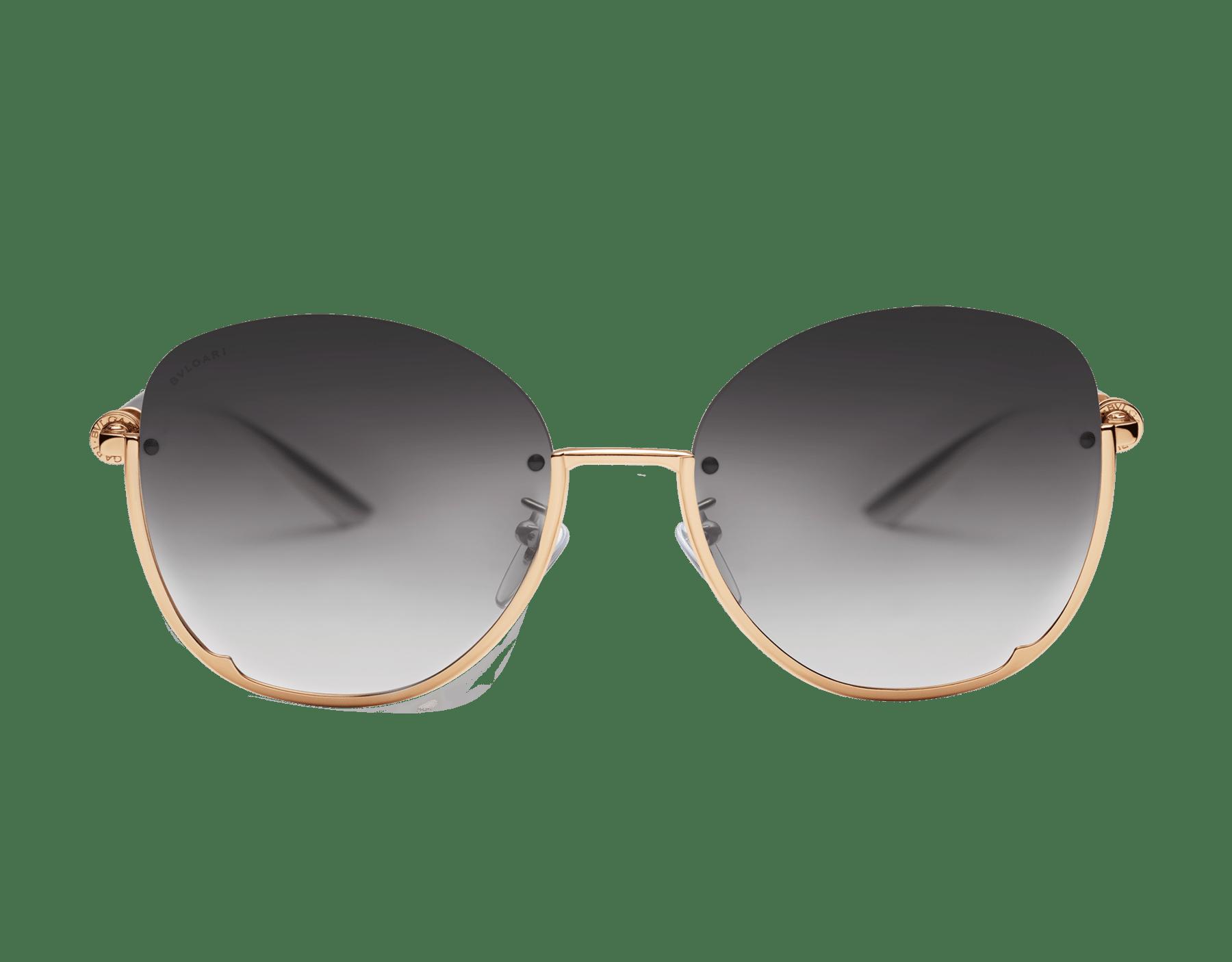 寶格麗 B.zero1 半框圓形金屬太陽眼鏡。 903819 image 2