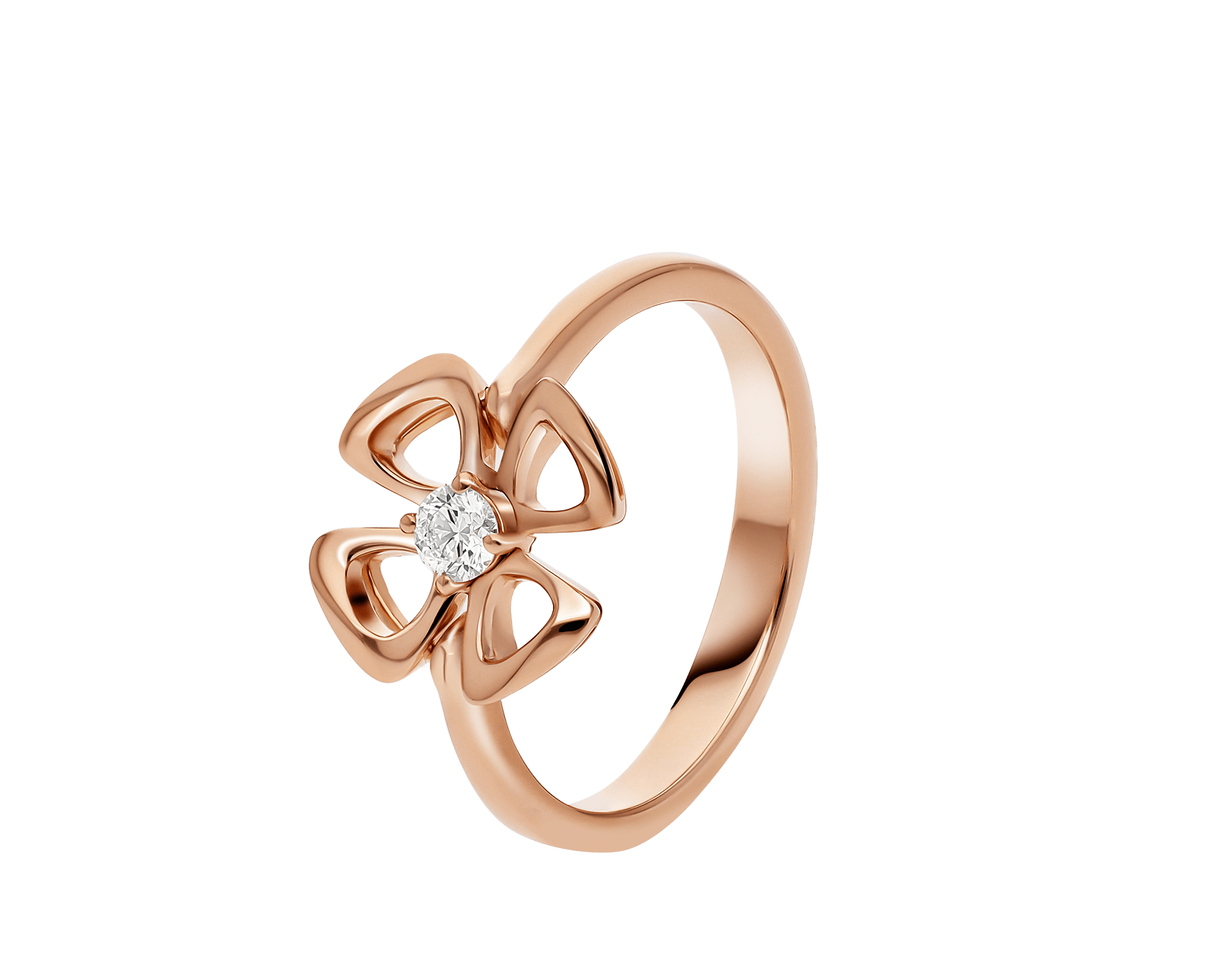 Fiorever 18 kt rose gold ring set with a central diamond (0.10 ct) AN858438 image 1