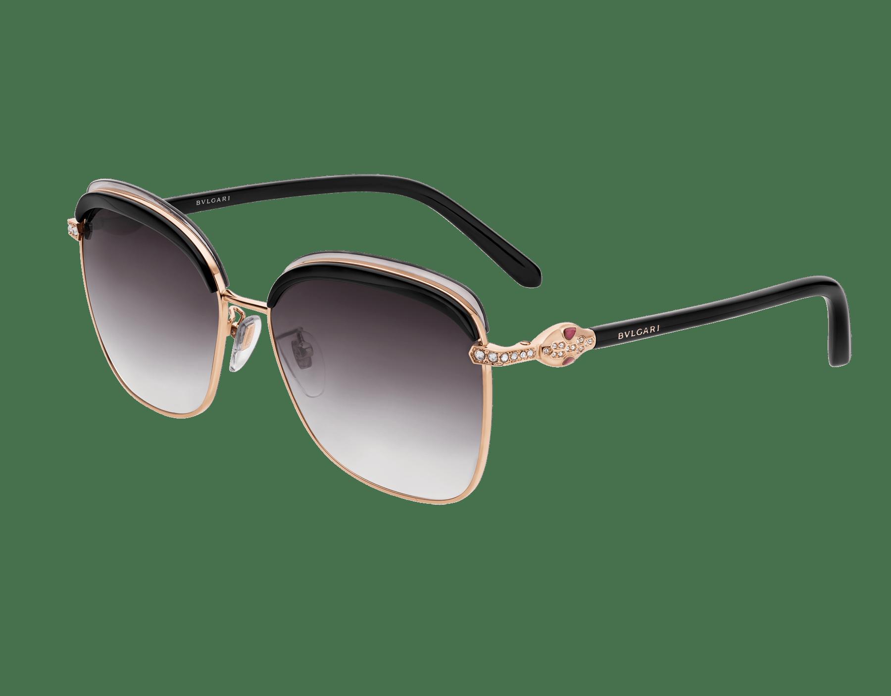 Bvlgari Serpenti squared metal sunglasses. 903659 image 1