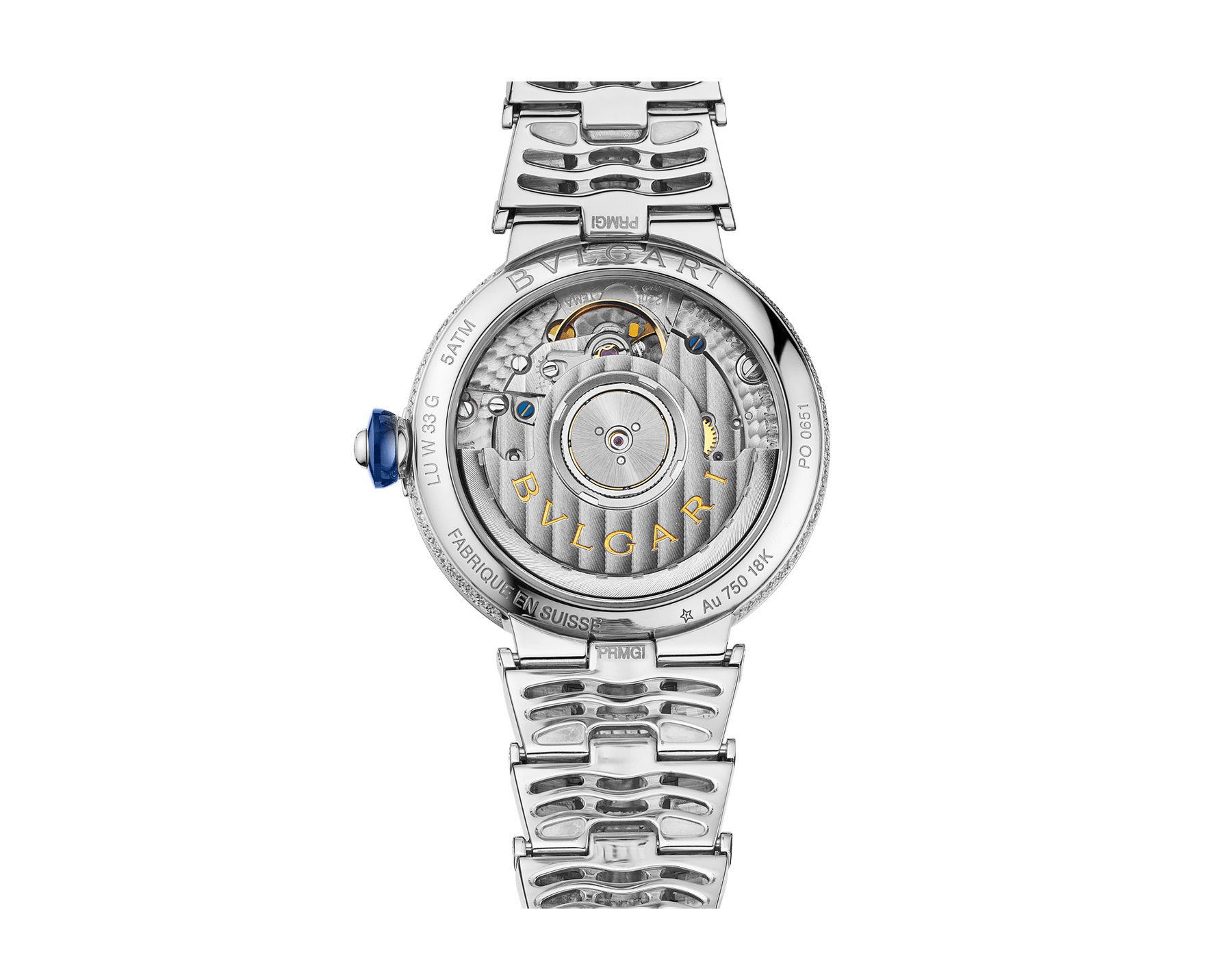 LVCEA watch in 18 kt white gold with brilliant-cut diamond set case and bracelet, and full pavé diamond dial. 102365 image 4