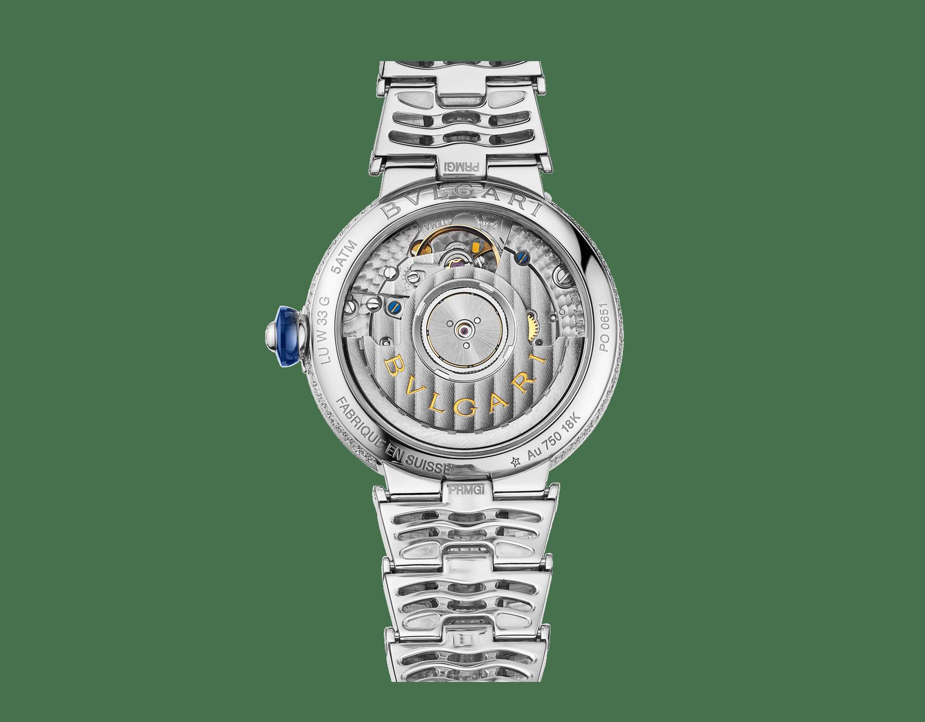 LVCEA Uhr mit Gehäuse und Armband aus 18Karat Weißgold mit Diamanten im Brillantschliff und Zifferblatt voll ausgefasst mit Diamant-Pavé. 102365 image 4