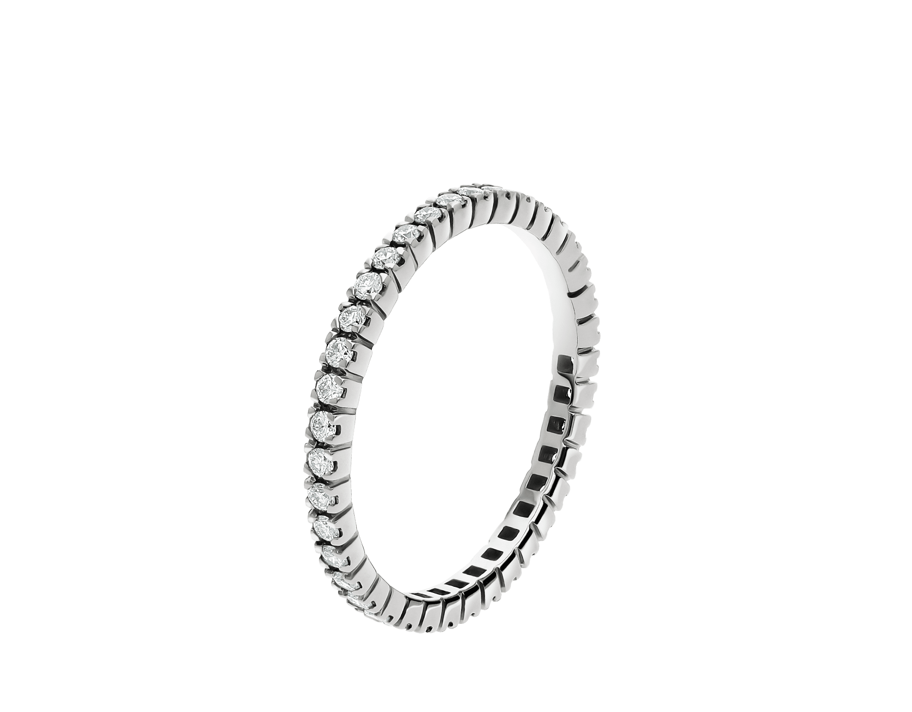 Eternity Band in thin size in 18 kt white gold with round brilliant cut diamonds AN856362 image 1