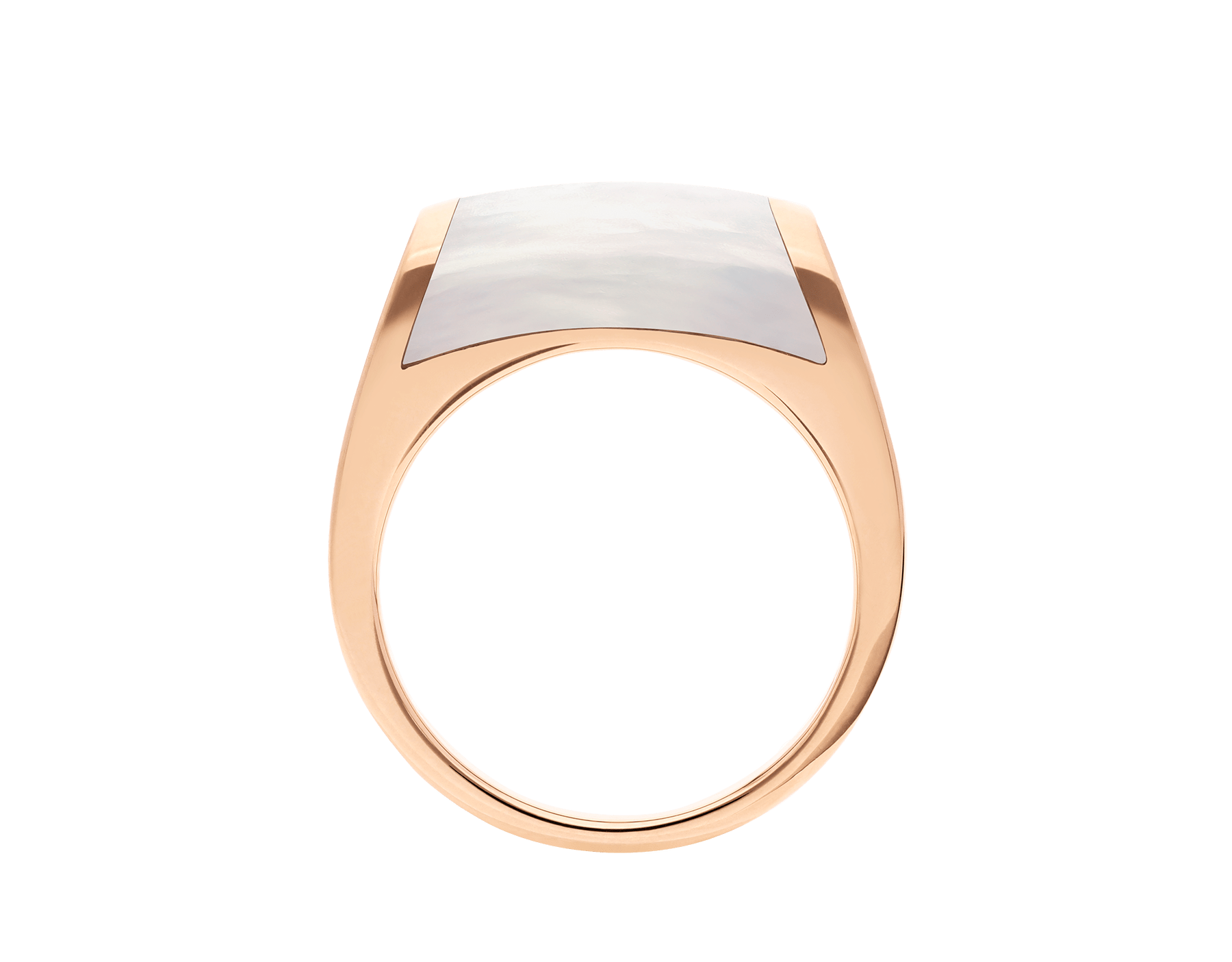 MVSA slim ring in 18 kt rose gold, set with a mother-of-pearl. AN857839 image 2