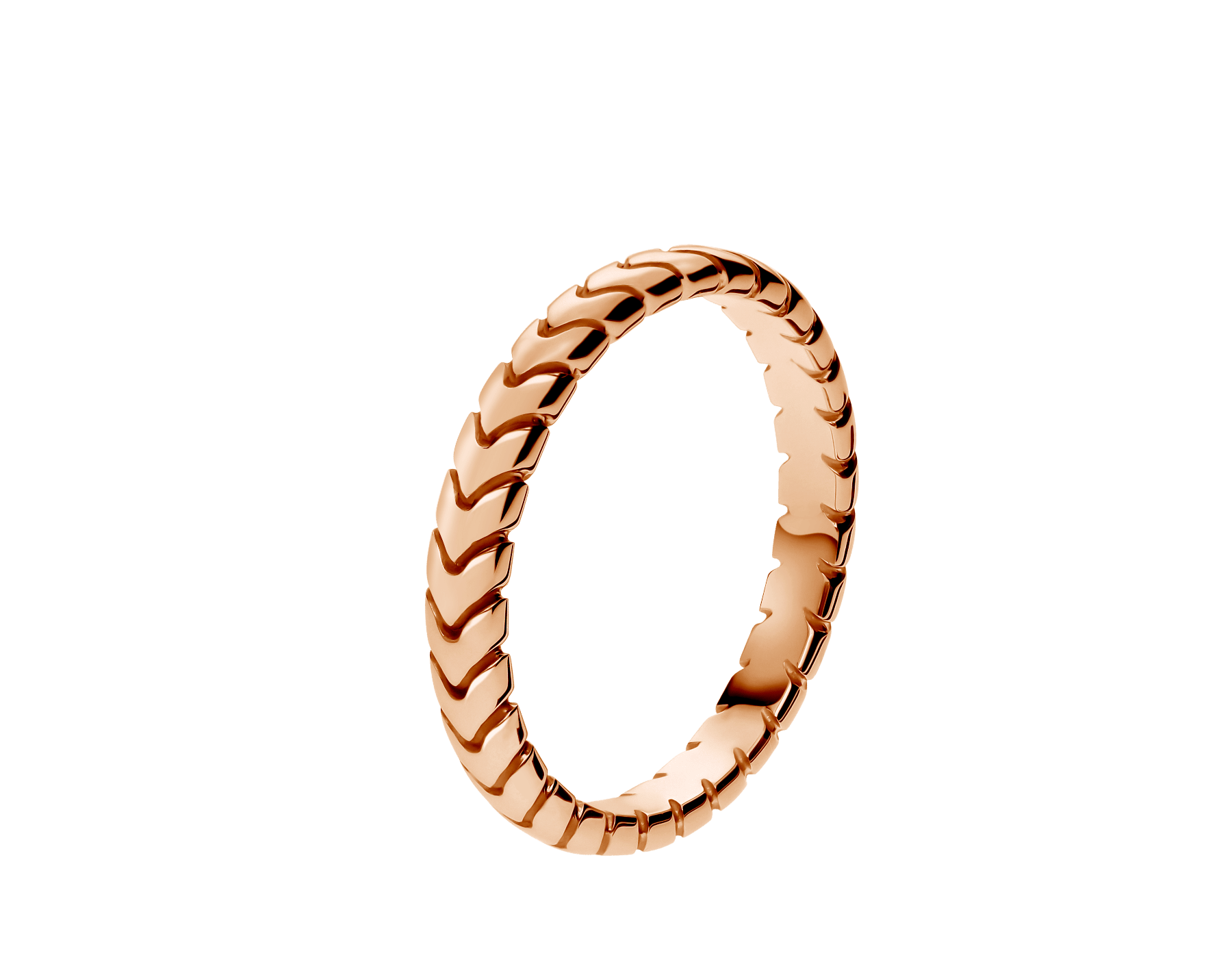 Spiga 18 kt rose gold wedding ring. (3mm wide) AN856860 image 1