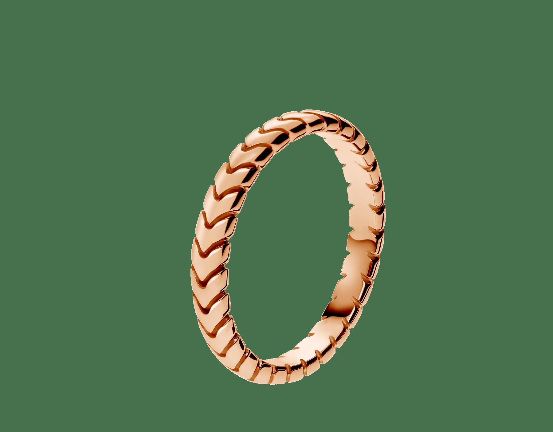 Anel de casamento Spiga 18K em ouro rosa. (3mm de largura) AN856860 image 1