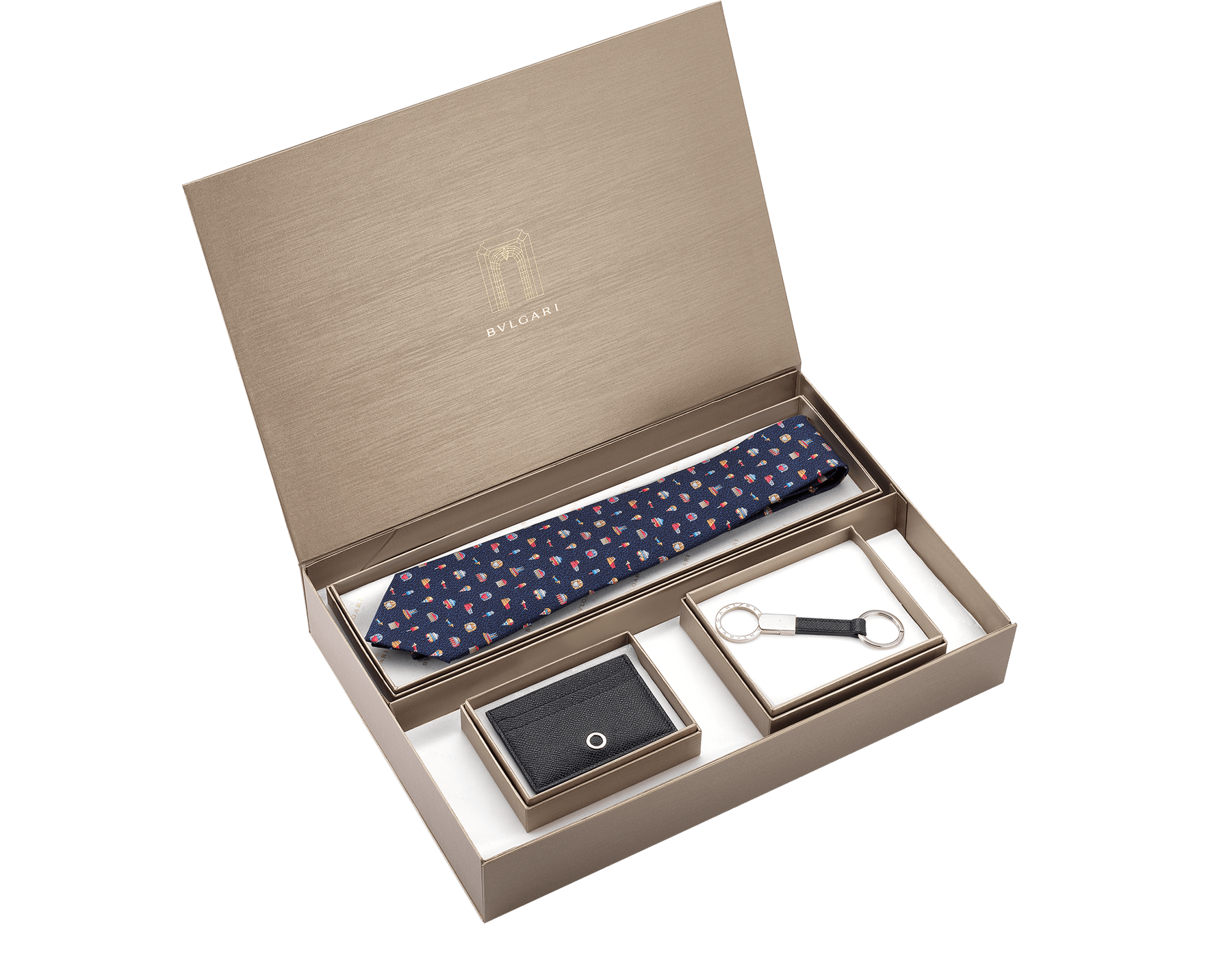 An elegant box of Bvlgari creations for a special gift. Unleash your creativity and choose the perfect combination.