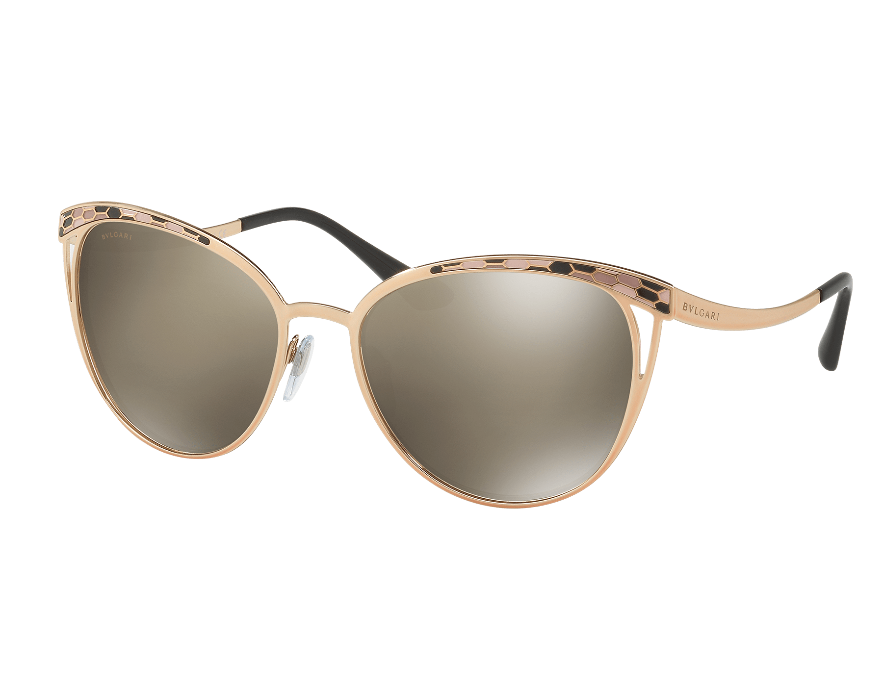 Serpenti 'Serpentine' contemporary cat-eye metal sunglasses. 903287 image 1