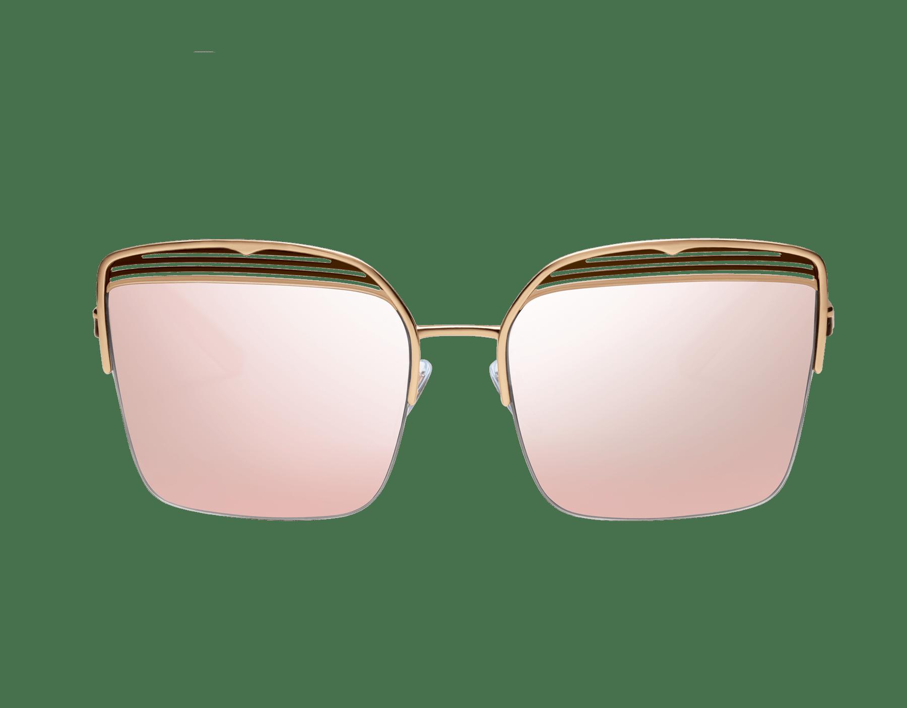 Bvlgari B.zero1 B.overvibe half-rim square metal sunglasses. 903812 image 2