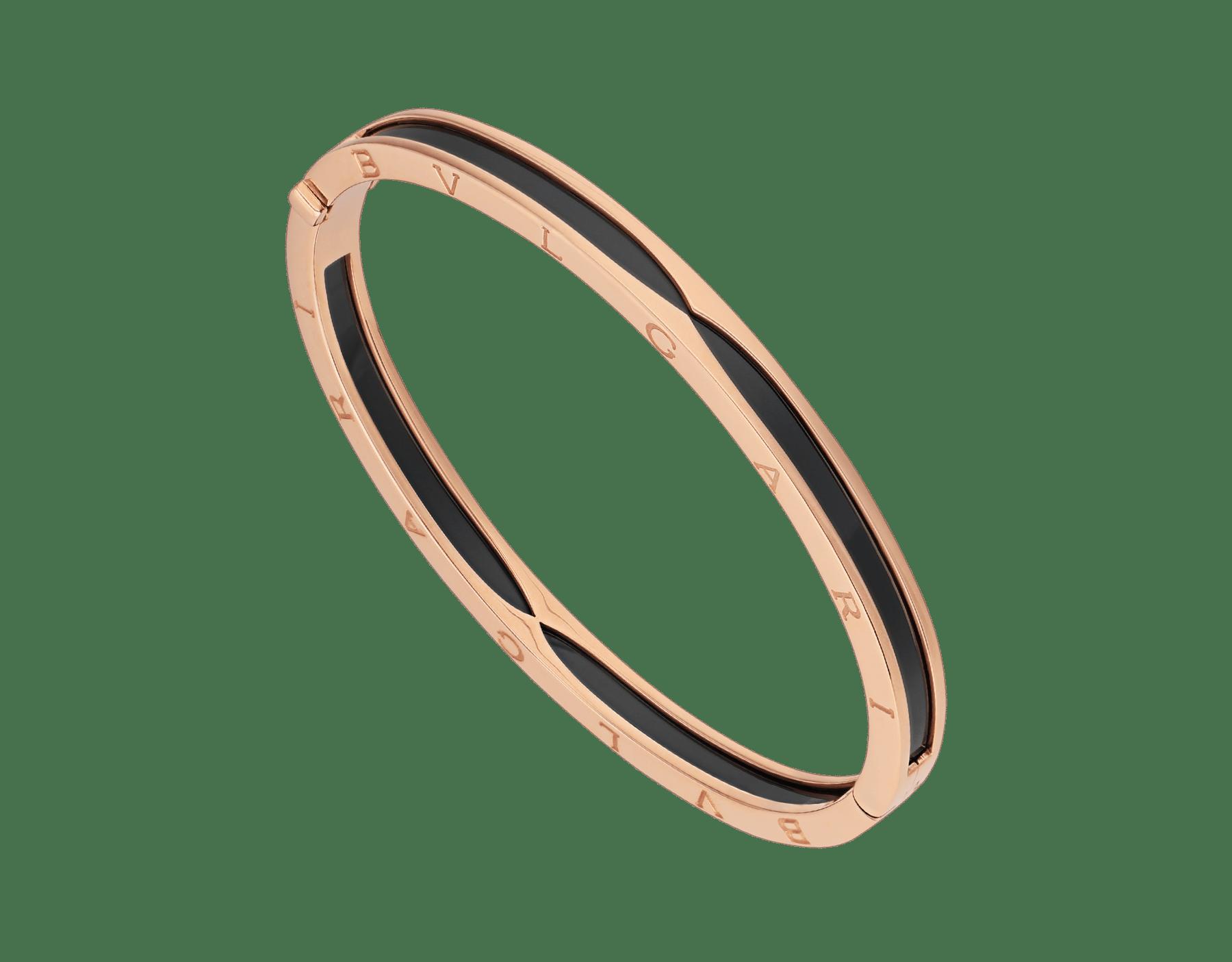 B.zero1 18K 玫瑰金手鐲,鑲飾黑色陶瓷。 BR857618 image 1